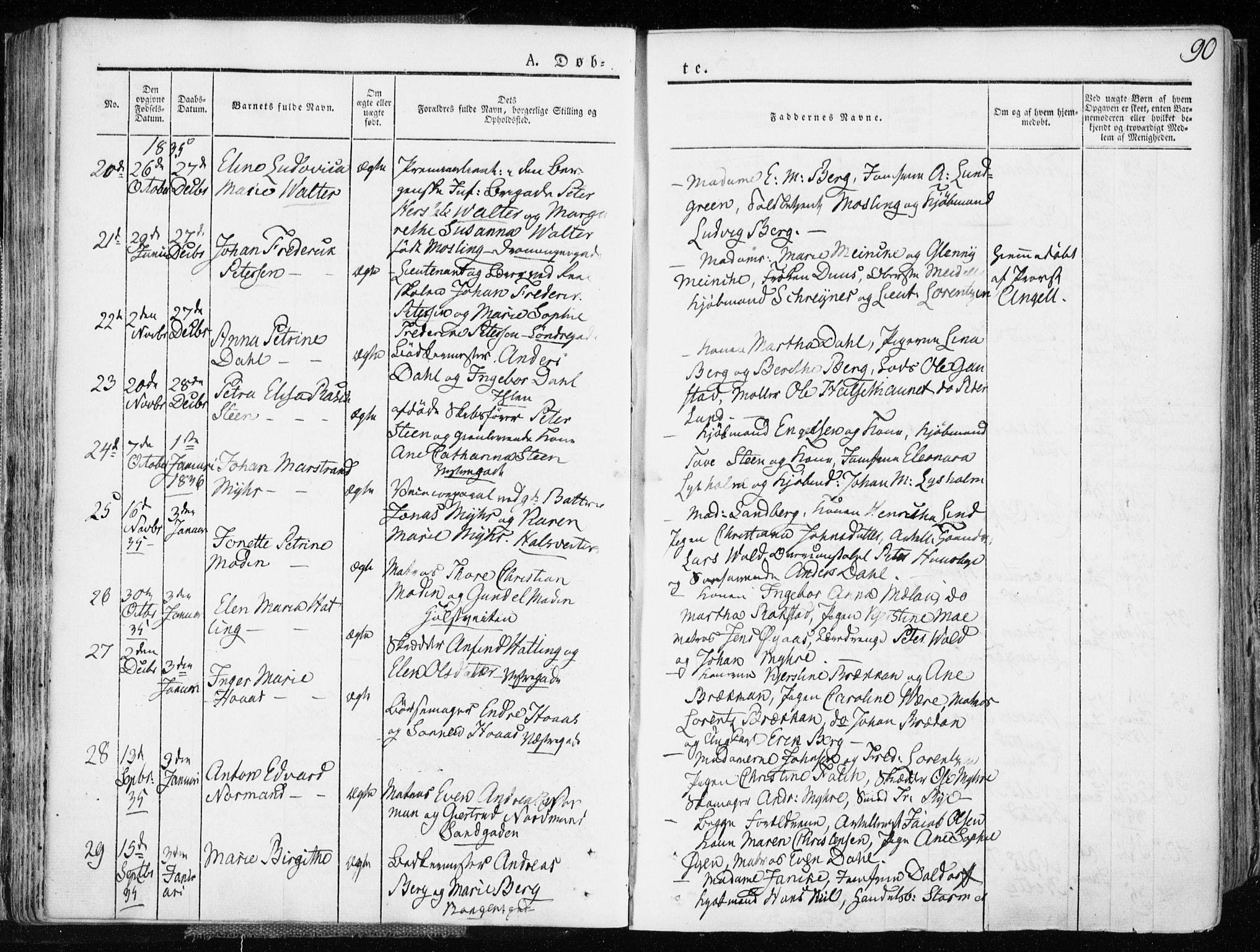 SAT, Ministerialprotokoller, klokkerbøker og fødselsregistre - Sør-Trøndelag, 601/L0047: Ministerialbok nr. 601A15, 1831-1839, s. 90