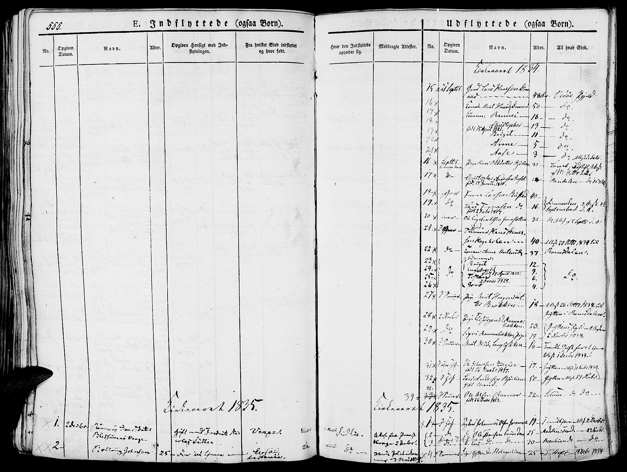 SAH, Lesja prestekontor, Ministerialbok nr. 5, 1830-1842, s. 555