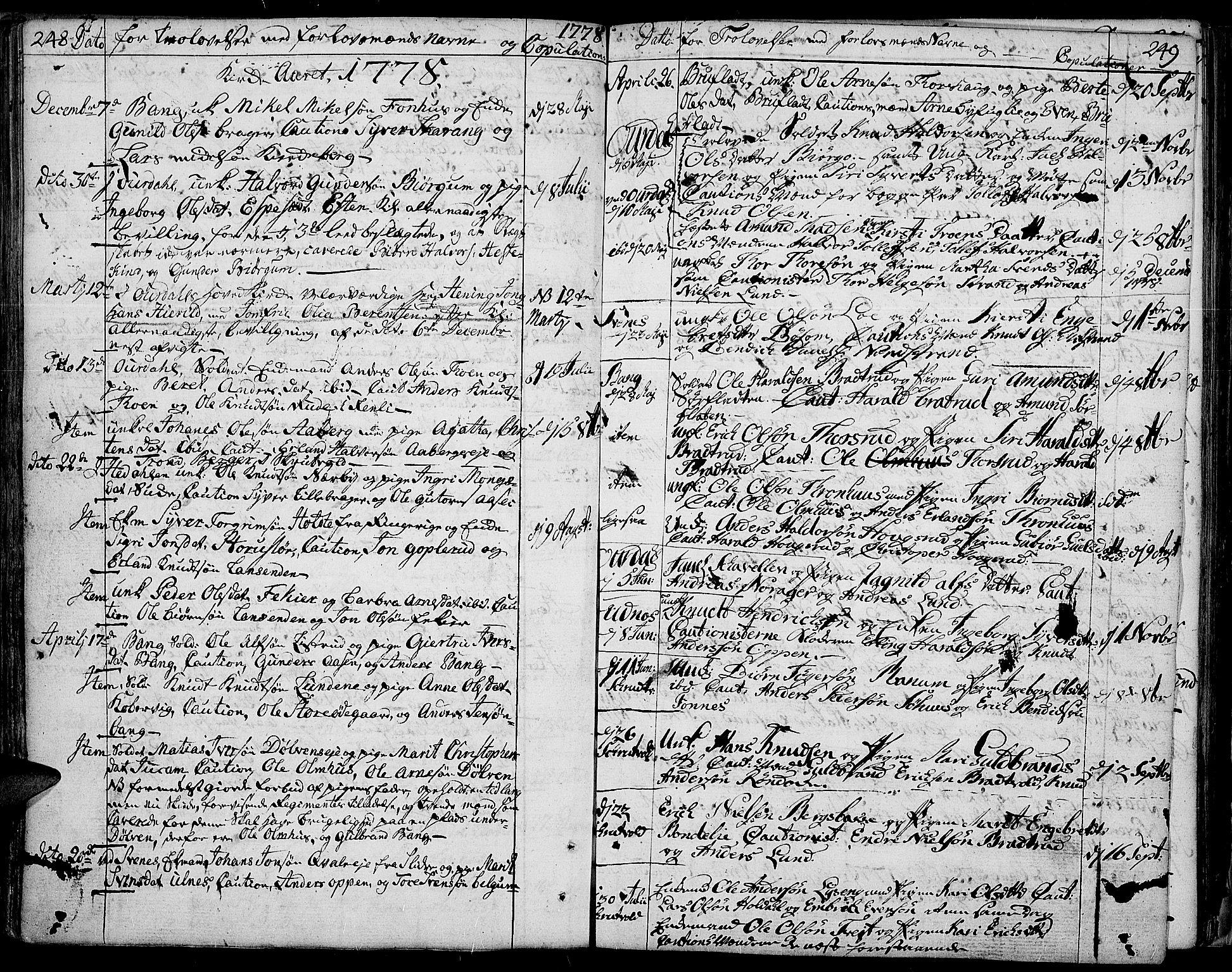 SAH, Aurdal prestekontor, Ministerialbok nr. 5, 1763-1781, s. 248-249