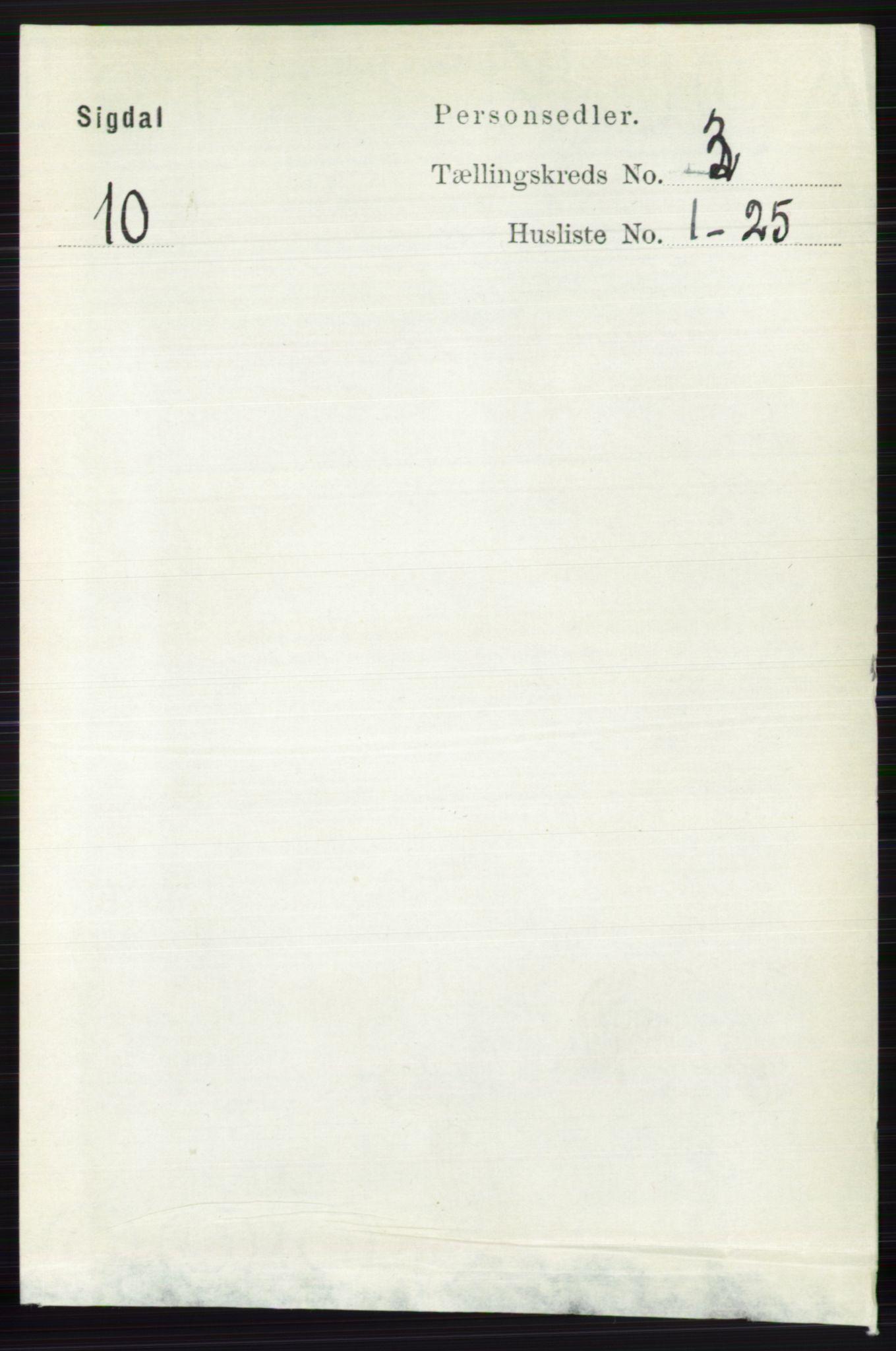 RA, Folketelling 1891 for 0621 Sigdal herred, 1891, s. 1337