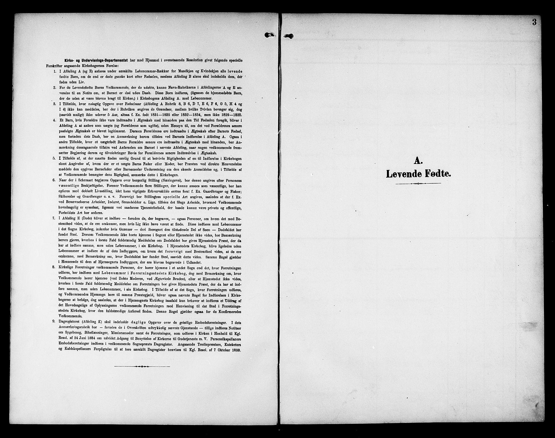 SAT, Ministerialprotokoller, klokkerbøker og fødselsregistre - Nord-Trøndelag, 757/L0506: Klokkerbok nr. 757C01, 1904-1922, s. 3