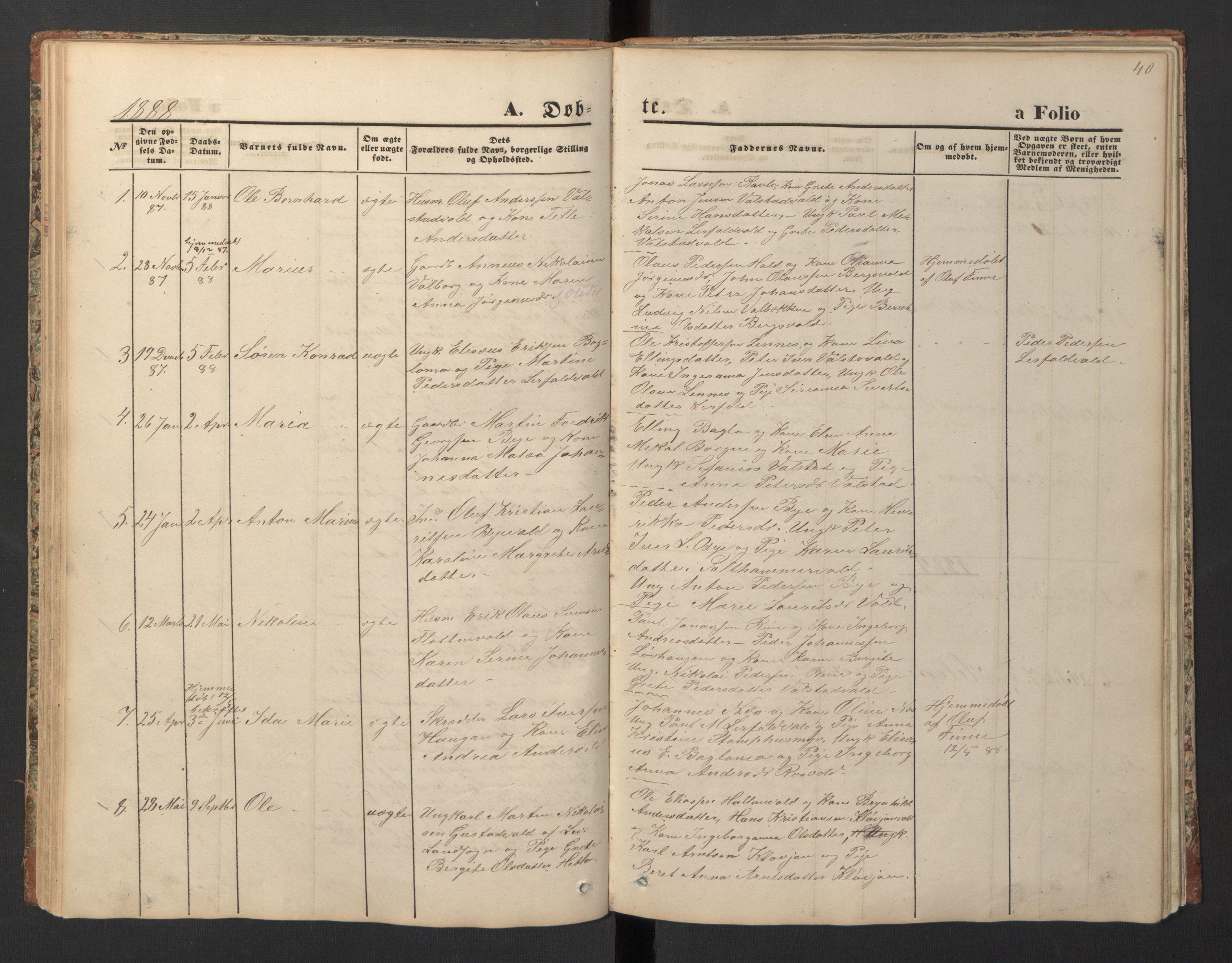 SAT, Ministerialprotokoller, klokkerbøker og fødselsregistre - Nord-Trøndelag, 726/L0271: Klokkerbok nr. 726C02, 1869-1897, s. 40