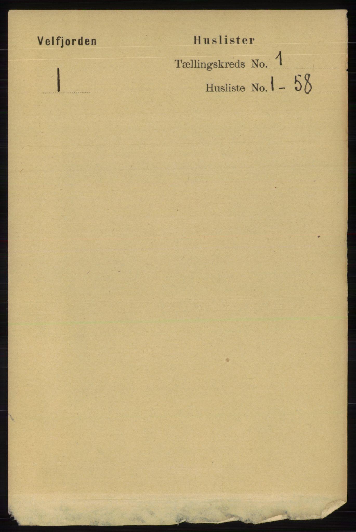 RA, Folketelling 1891 for 1813 Velfjord herred, 1891, s. 13