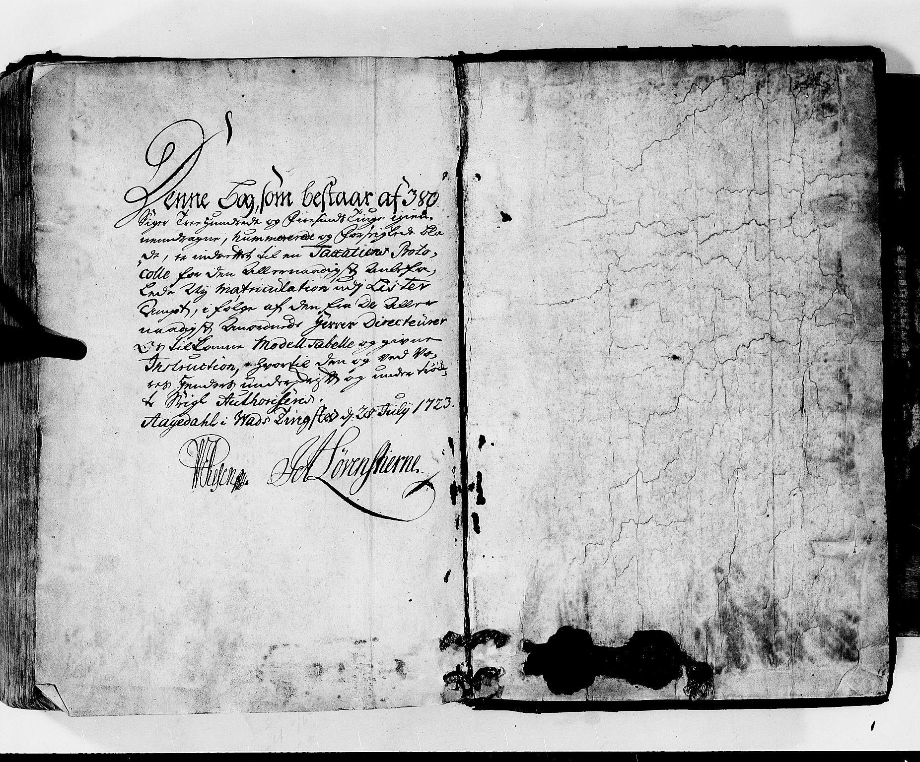 RA, Rentekammeret inntil 1814, Realistisk ordnet avdeling, N/Nb/Nbf/L0130: Lista matrikkelprotokoll, 1723, s. upaginert