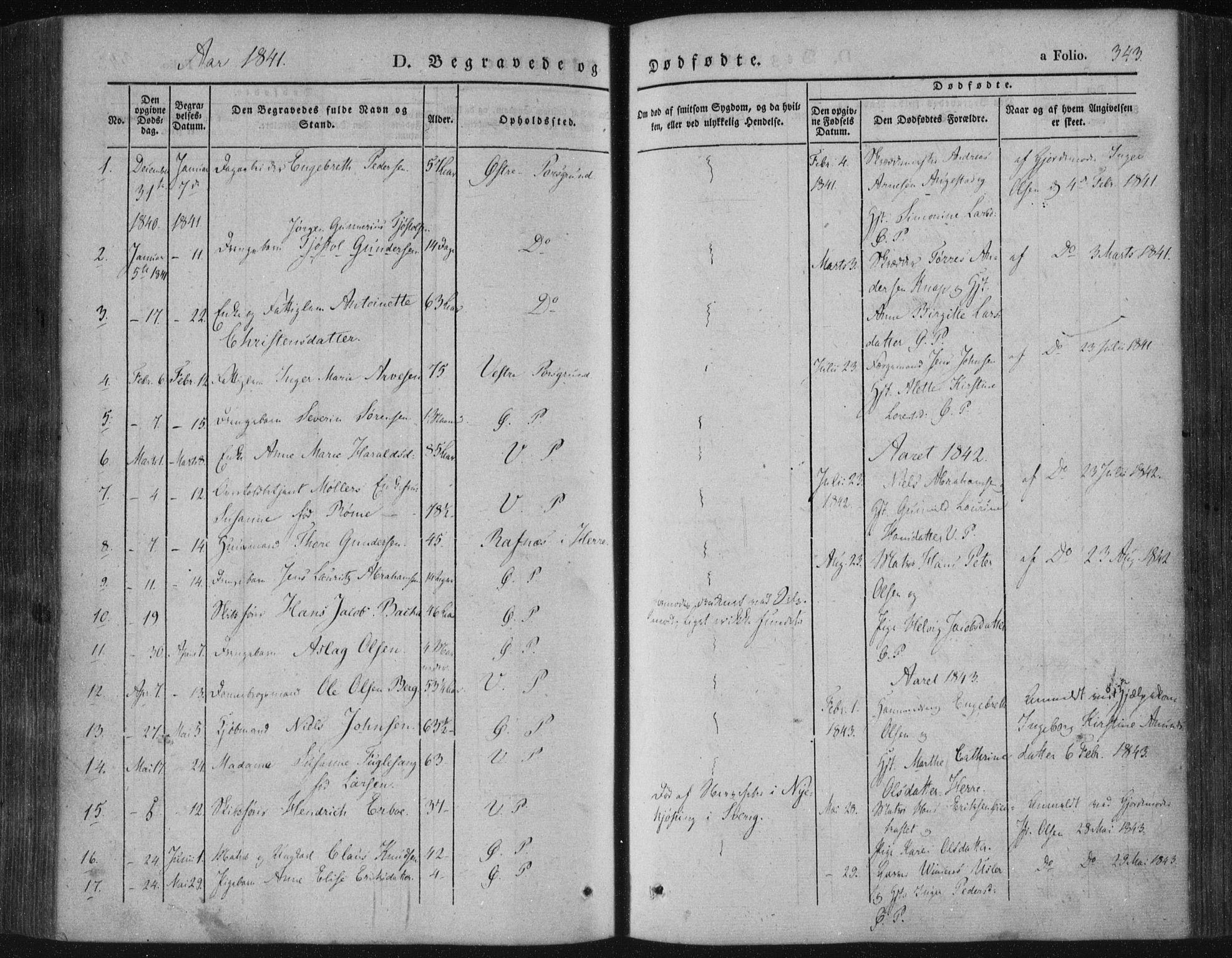 SAKO, Porsgrunn kirkebøker , F/Fa/L0006: Ministerialbok nr. 6, 1841-1857, s. 343