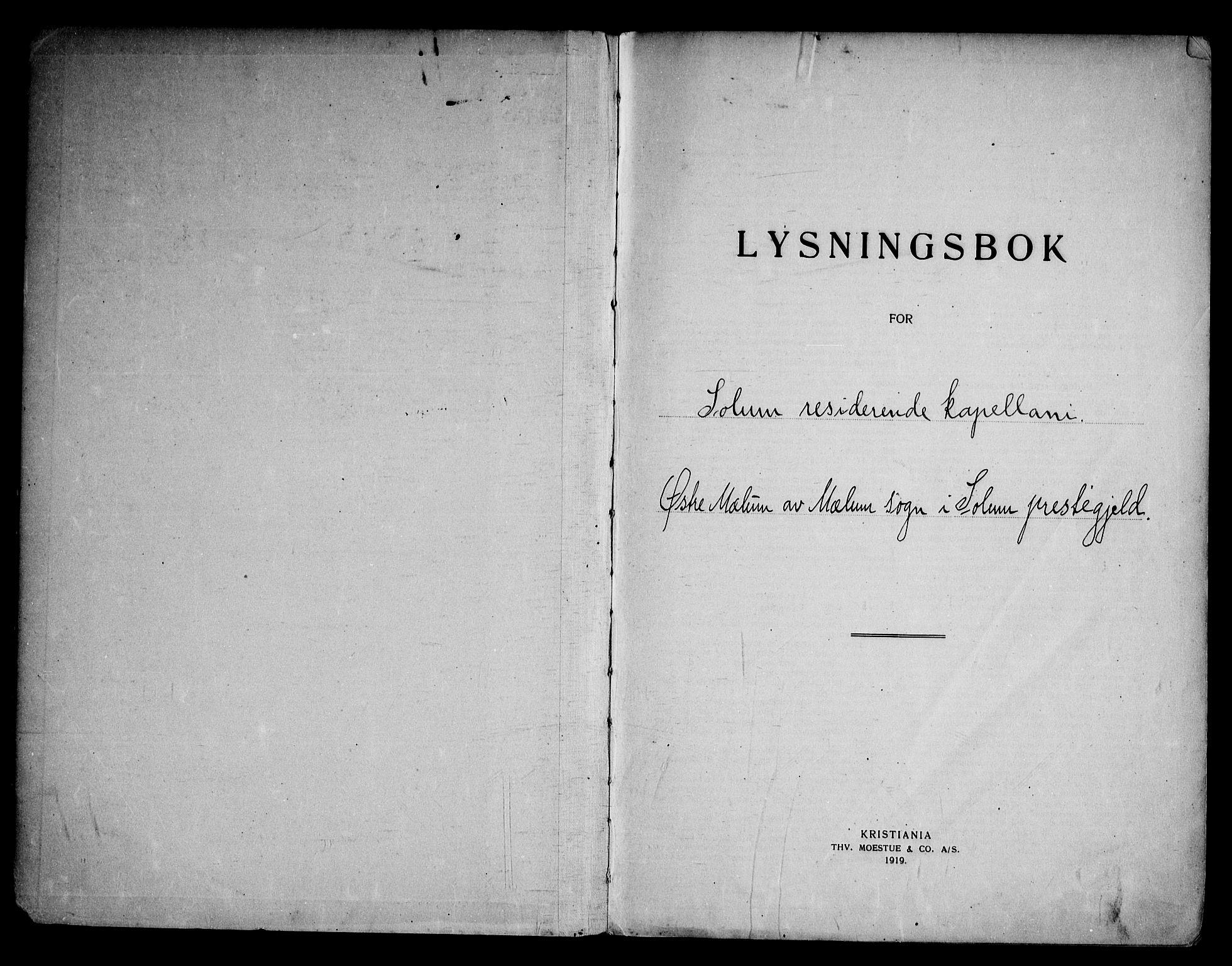 SAKO, Solum kirkebøker, H/Hb/L0001: Lysningsprotokoll nr. II 1, 1929-1963