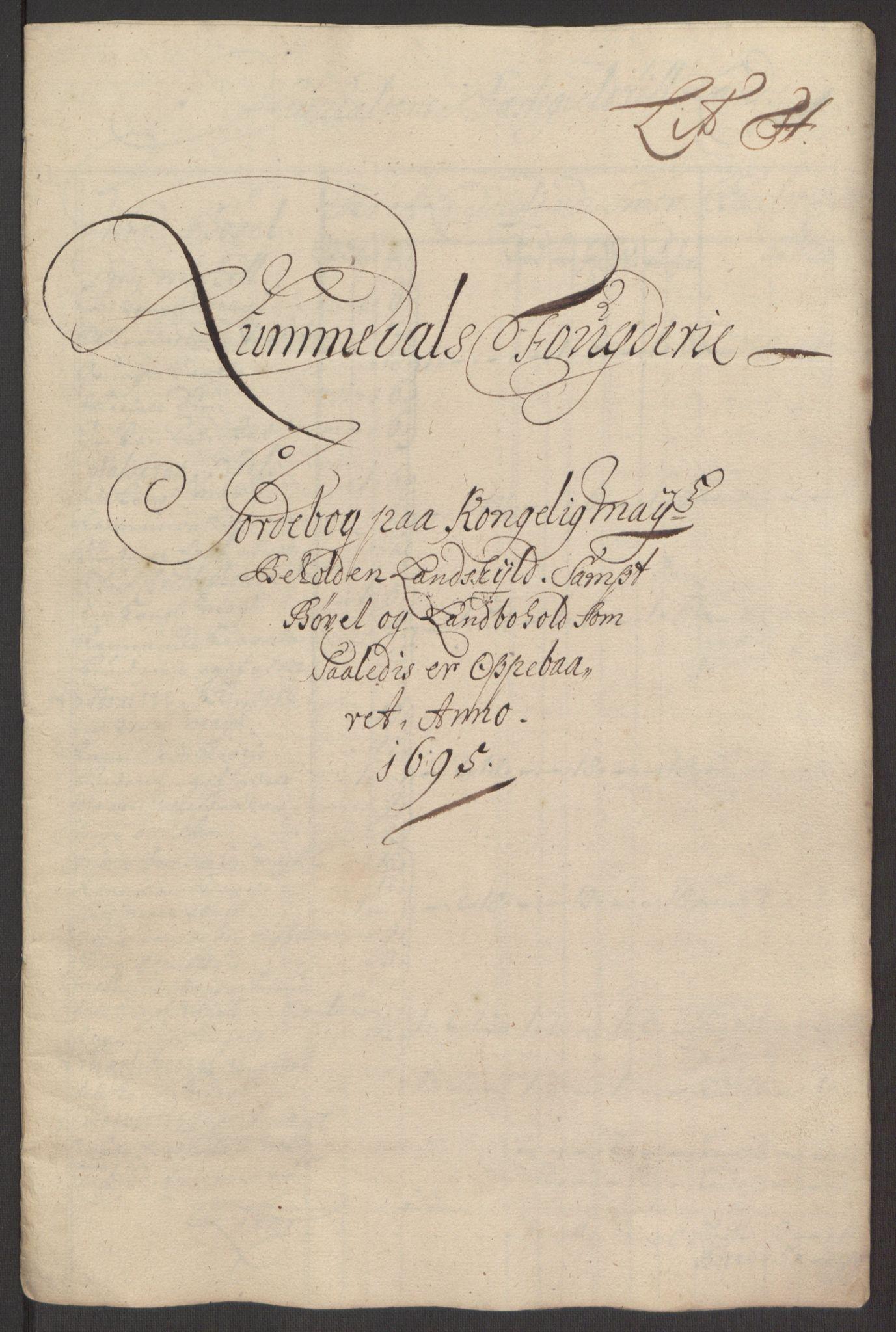 RA, Rentekammeret inntil 1814, Reviderte regnskaper, Fogderegnskap, R64/L4424: Fogderegnskap Namdal, 1692-1695, s. 488