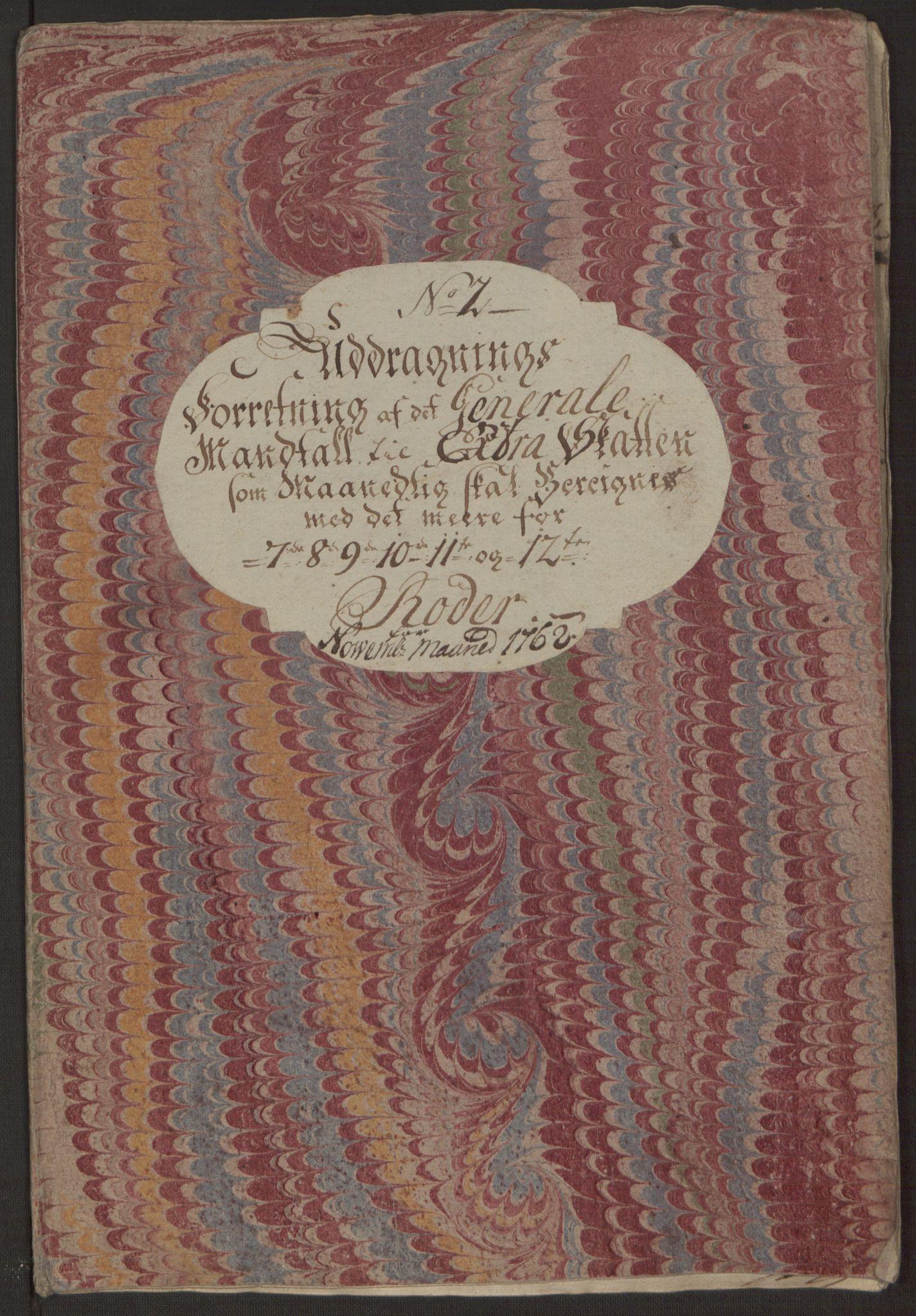 RA, Rentekammeret inntil 1814, Reviderte regnskaper, Byregnskaper, R/Rp/L0365: [P20] Kontribusjonsregnskap, 1762, s. 207