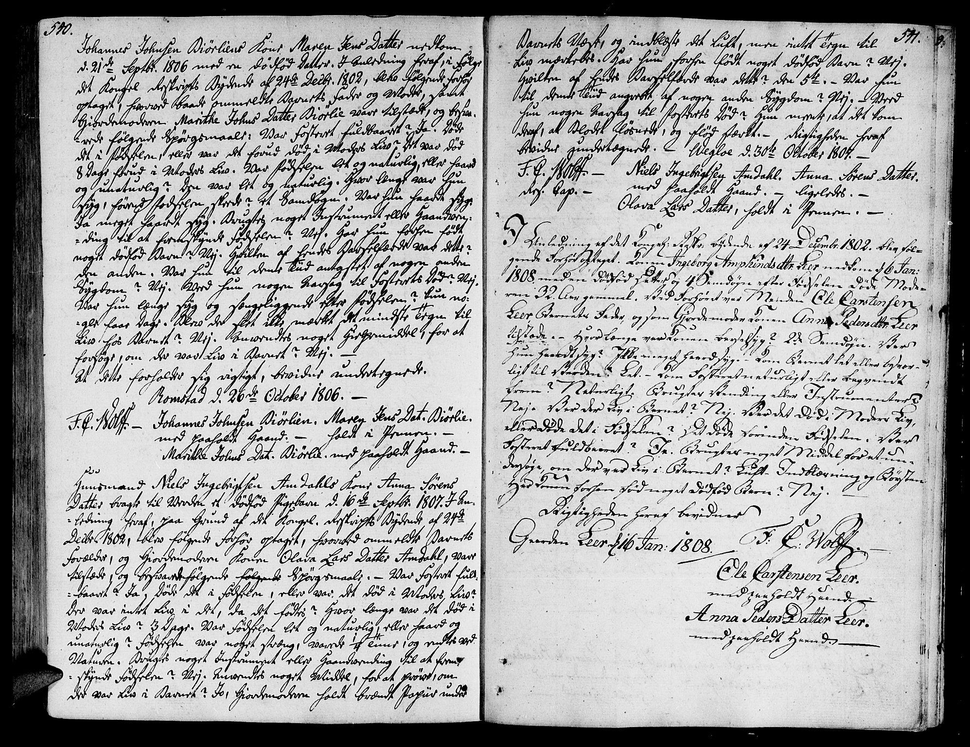 SAT, Ministerialprotokoller, klokkerbøker og fødselsregistre - Nord-Trøndelag, 764/L0545: Ministerialbok nr. 764A05, 1799-1816, s. 540-541