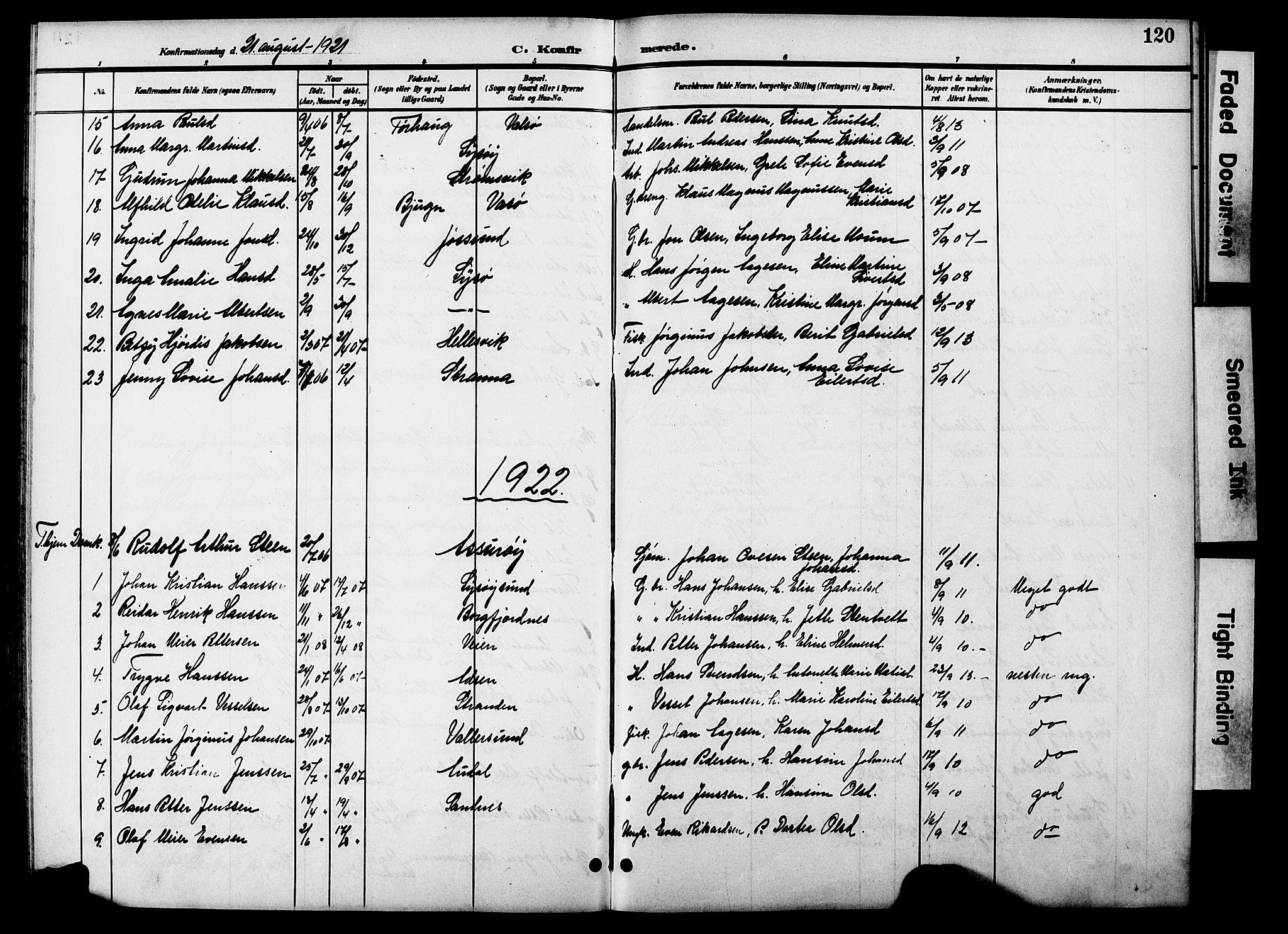 SAT, Ministerialprotokoller, klokkerbøker og fødselsregistre - Sør-Trøndelag, 654/L0666: Klokkerbok nr. 654C02, 1901-1925, s. 120