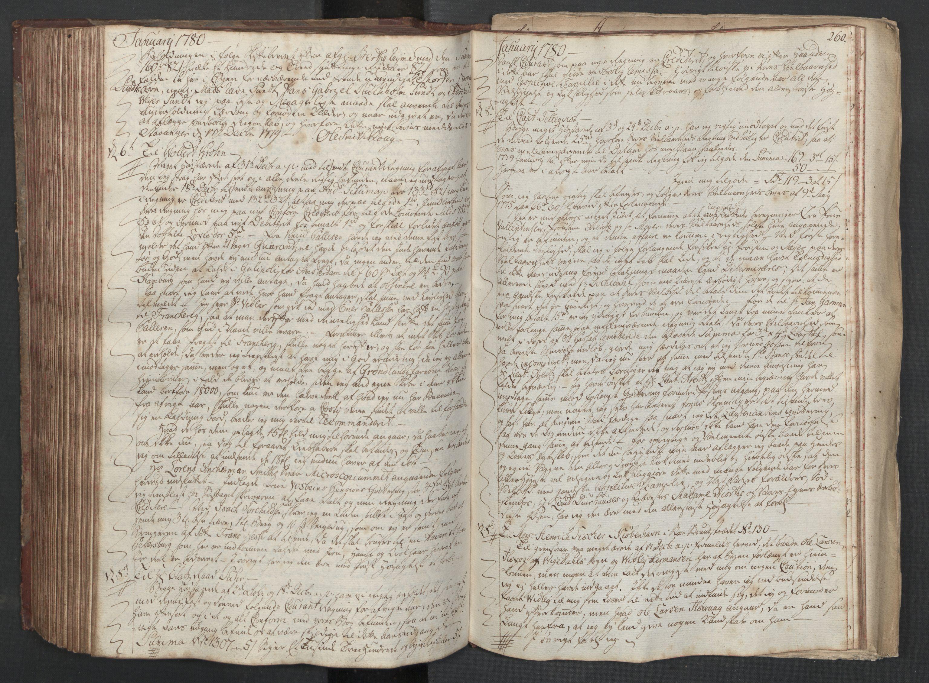 SAST, Pa 0003 - Ploug & Sundt, handelshuset, B/L0003: Kopibok, 1775-1780, s. 259b-260a