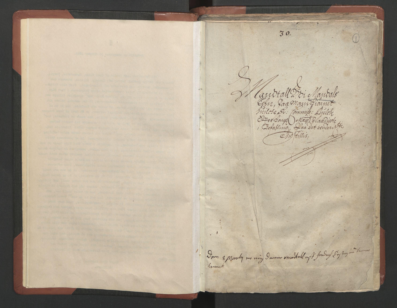 RA, Fogdenes og sorenskrivernes manntall 1664-1666, nr. 9: Mandal len, 1664-1666, s. 1