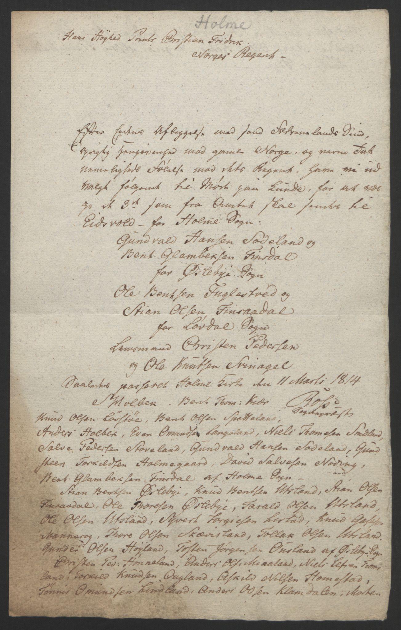 RA, Statsrådssekretariatet, D/Db/L0008: Fullmakter for Eidsvollsrepresentantene i 1814. , 1814, s. 126