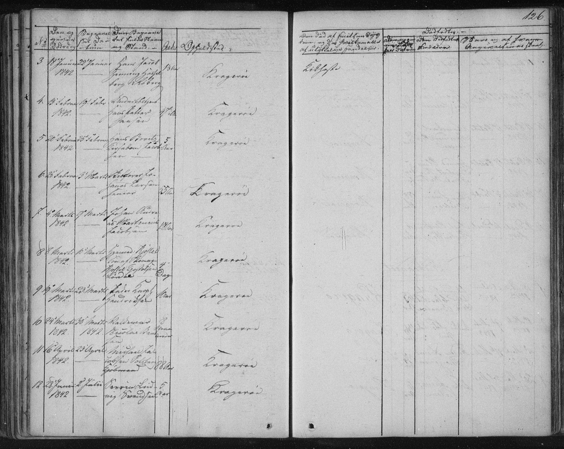 SAKO, Kragerø kirkebøker, F/Fa/L0005: Ministerialbok nr. 5, 1832-1847, s. 126