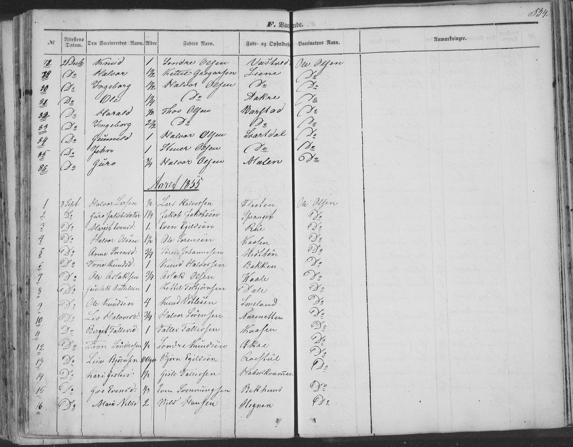 SAKO, Seljord kirkebøker, F/Fa/L012b: Ministerialbok nr. I 12B, 1850-1865, s. 534