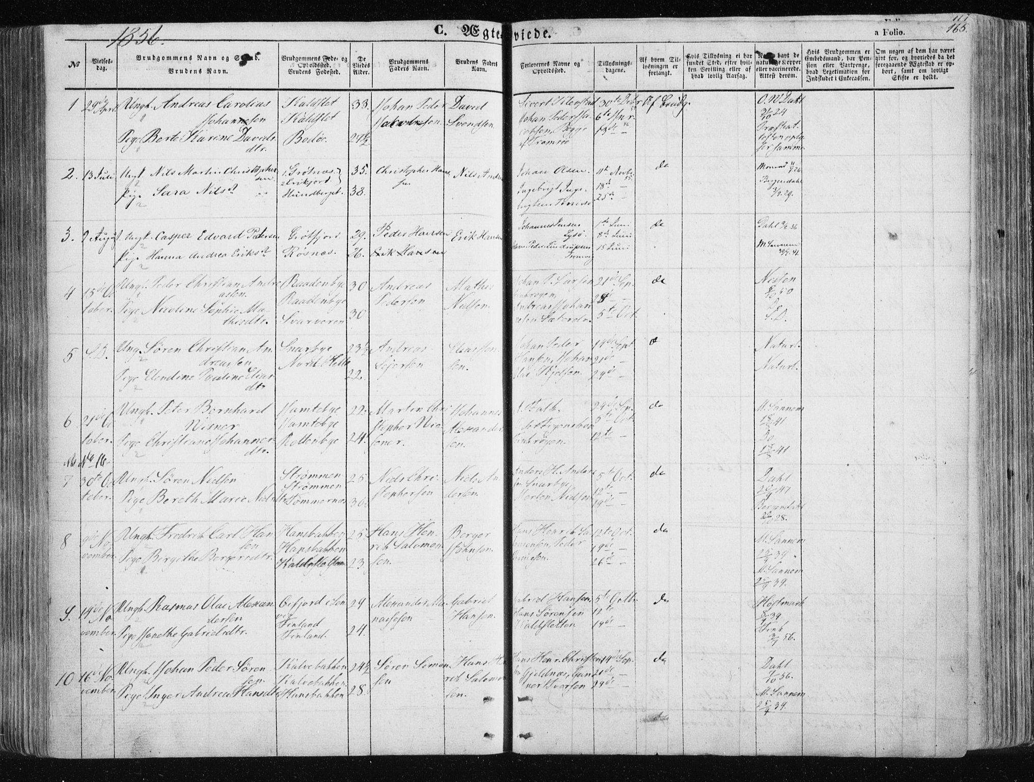 SATØ, Tromsøysund sokneprestkontor, G/Ga/L0001kirke: Ministerialbok nr. 1, 1856-1867, s. 165