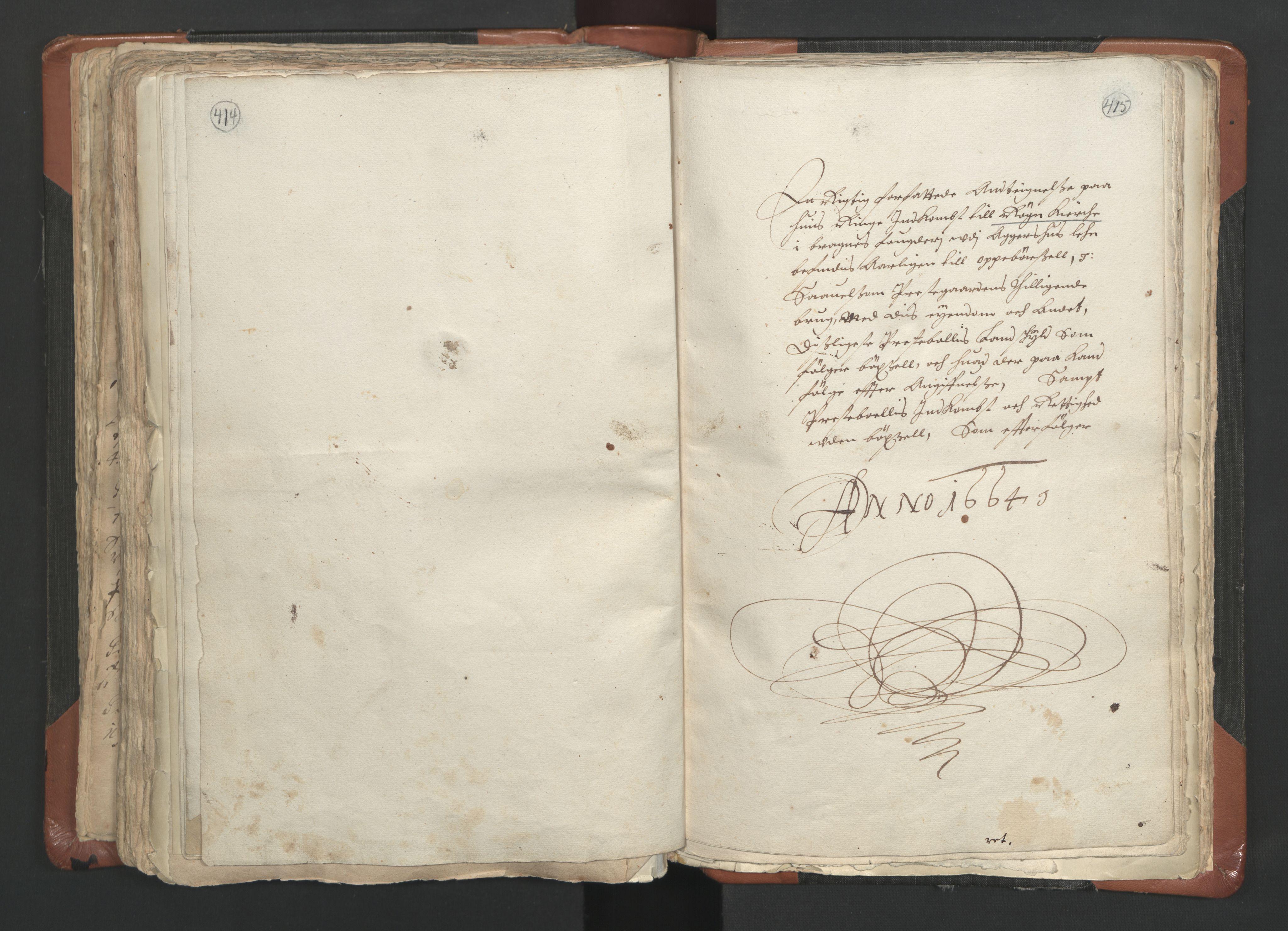 RA, Sogneprestenes manntall 1664-1666, nr. 9: Bragernes prosti, 1664-1666, s. 414-415