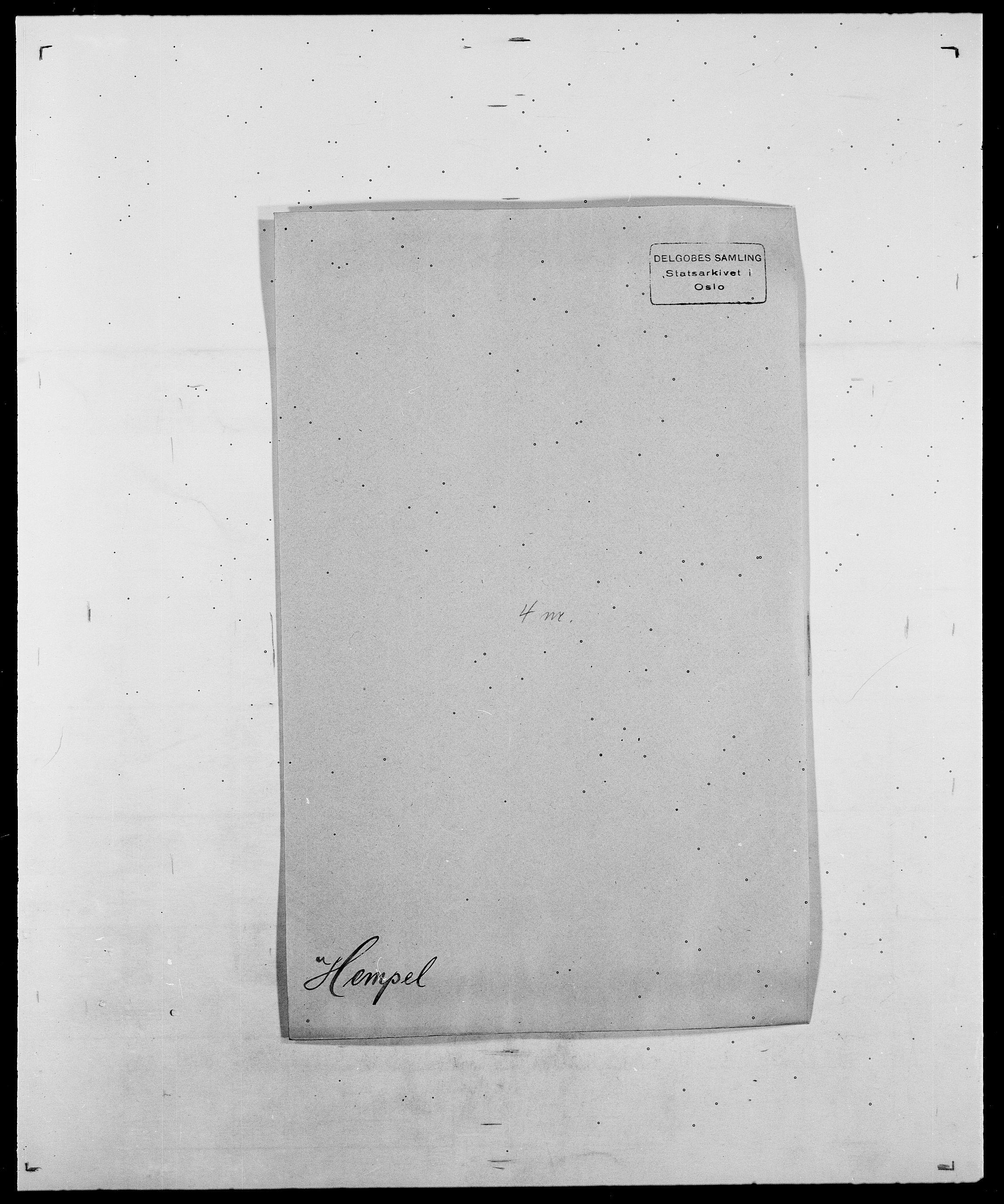 SAO, Delgobe, Charles Antoine - samling, D/Da/L0017: Helander - Hjørne, s. 161