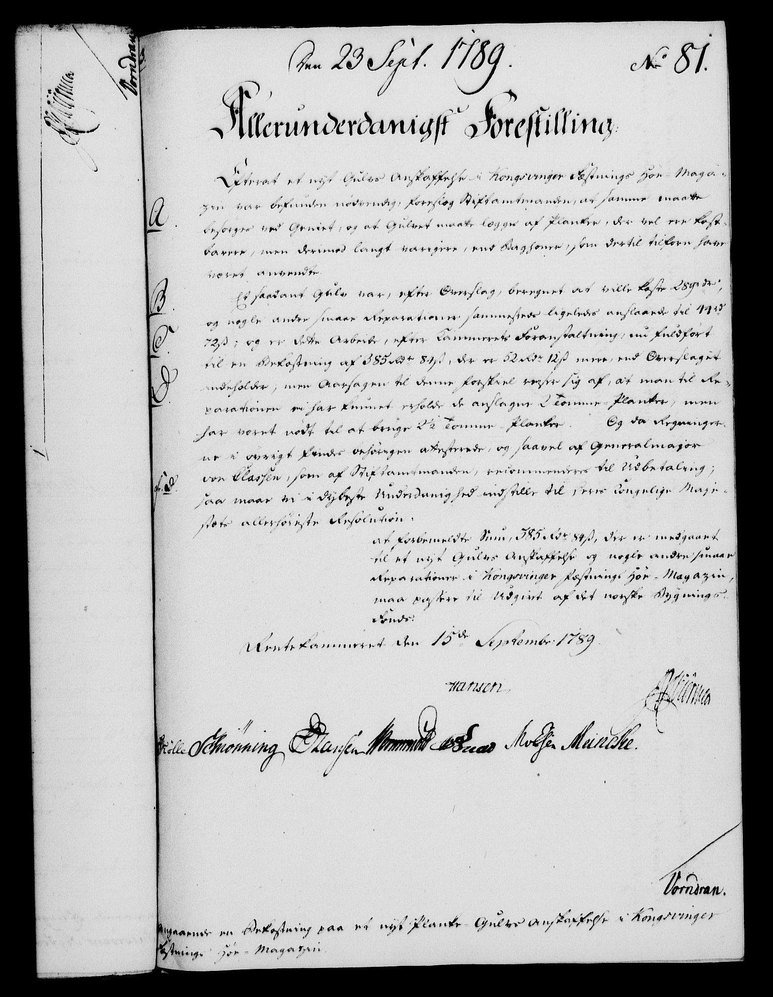 RA, Rentekammeret, Kammerkanselliet, G/Gf/Gfa/L0071: Norsk relasjons- og resolusjonsprotokoll (merket RK 52.71), 1789, s. 449