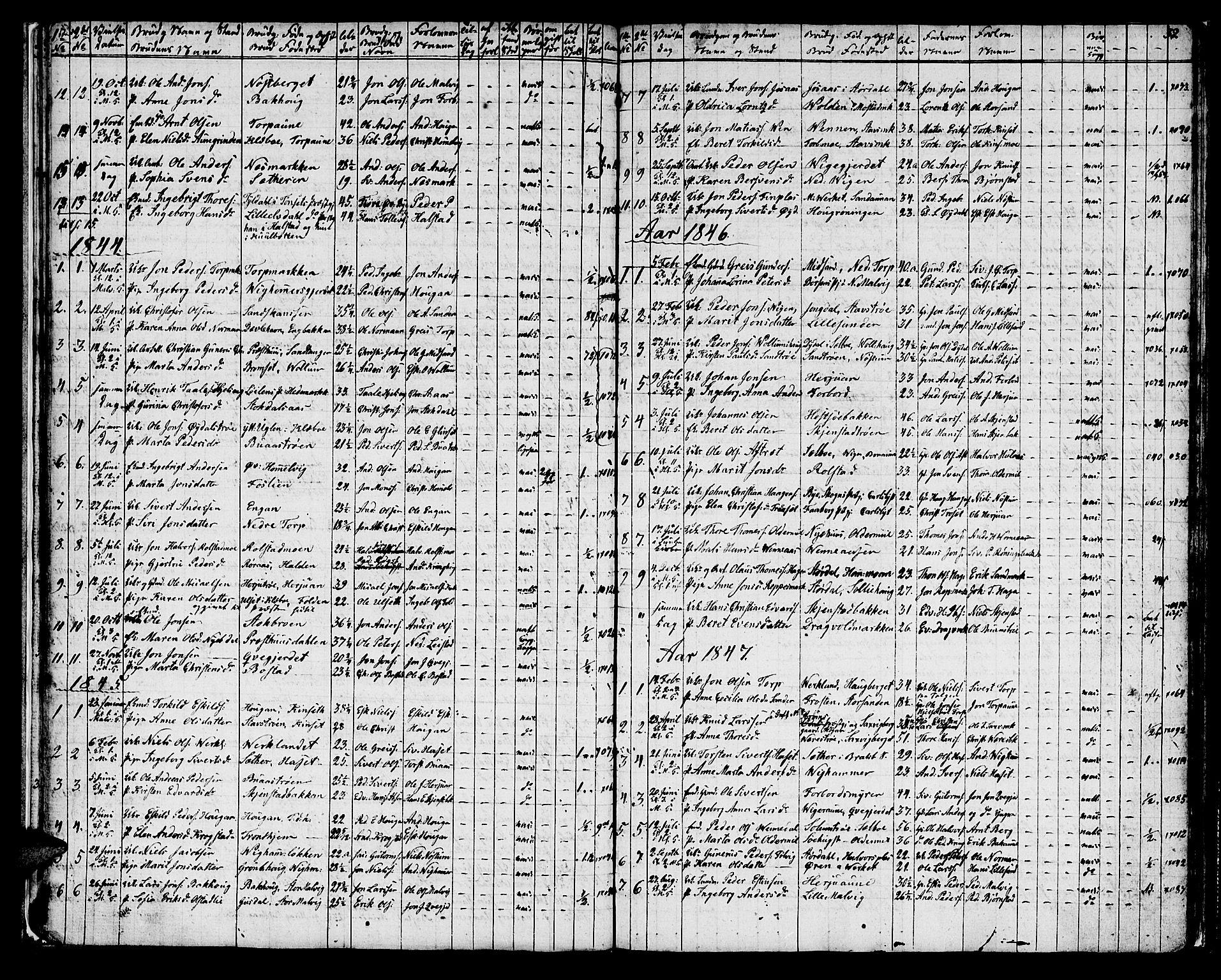 SAT, Ministerialprotokoller, klokkerbøker og fødselsregistre - Sør-Trøndelag, 616/L0421: Klokkerbok nr. 616C04, 1834-1850, s. 32