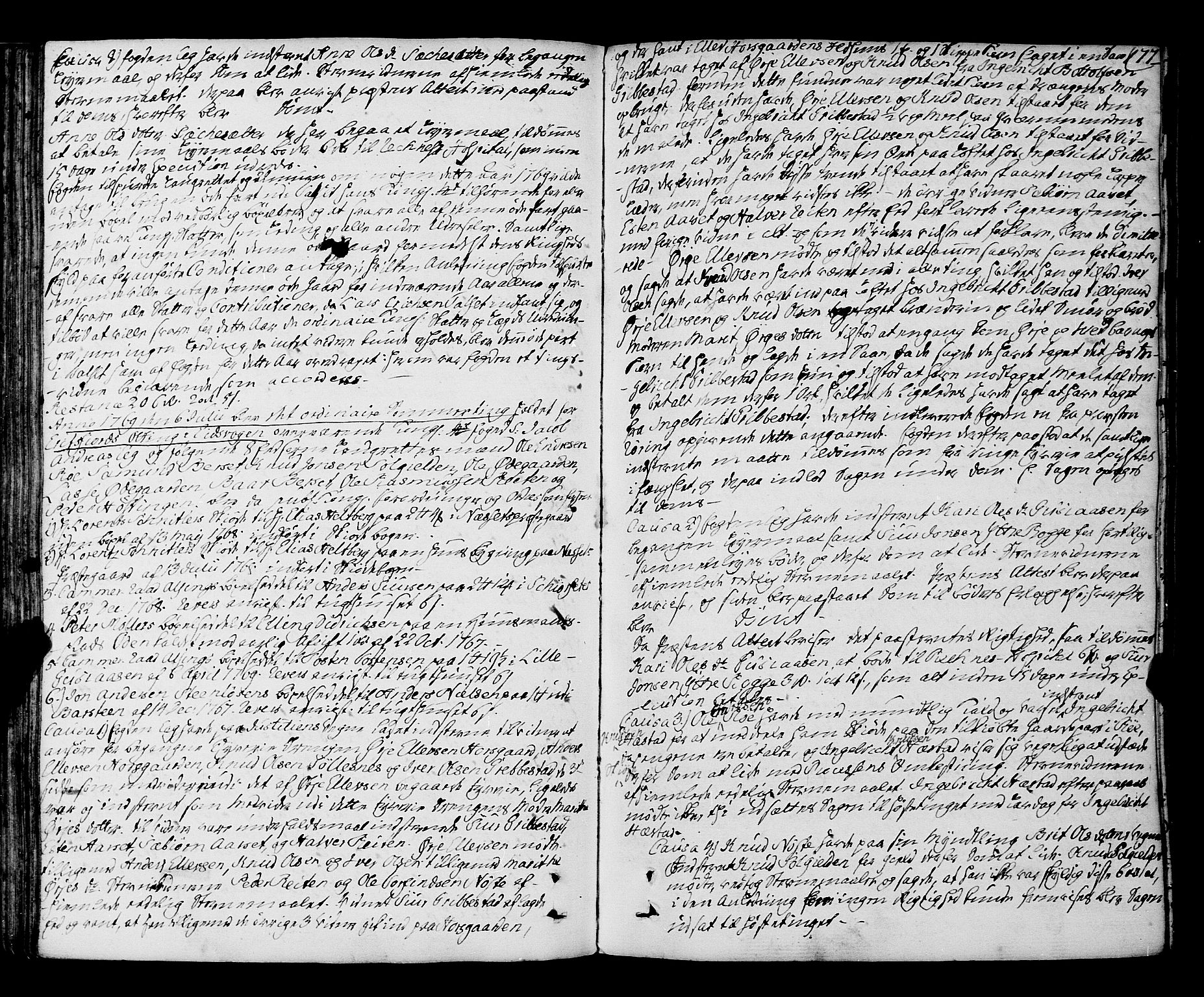 SAT, Romsdal sorenskriveri, 1/1A/L0015: Tingbok, 1765-1775, s. 176b-177a