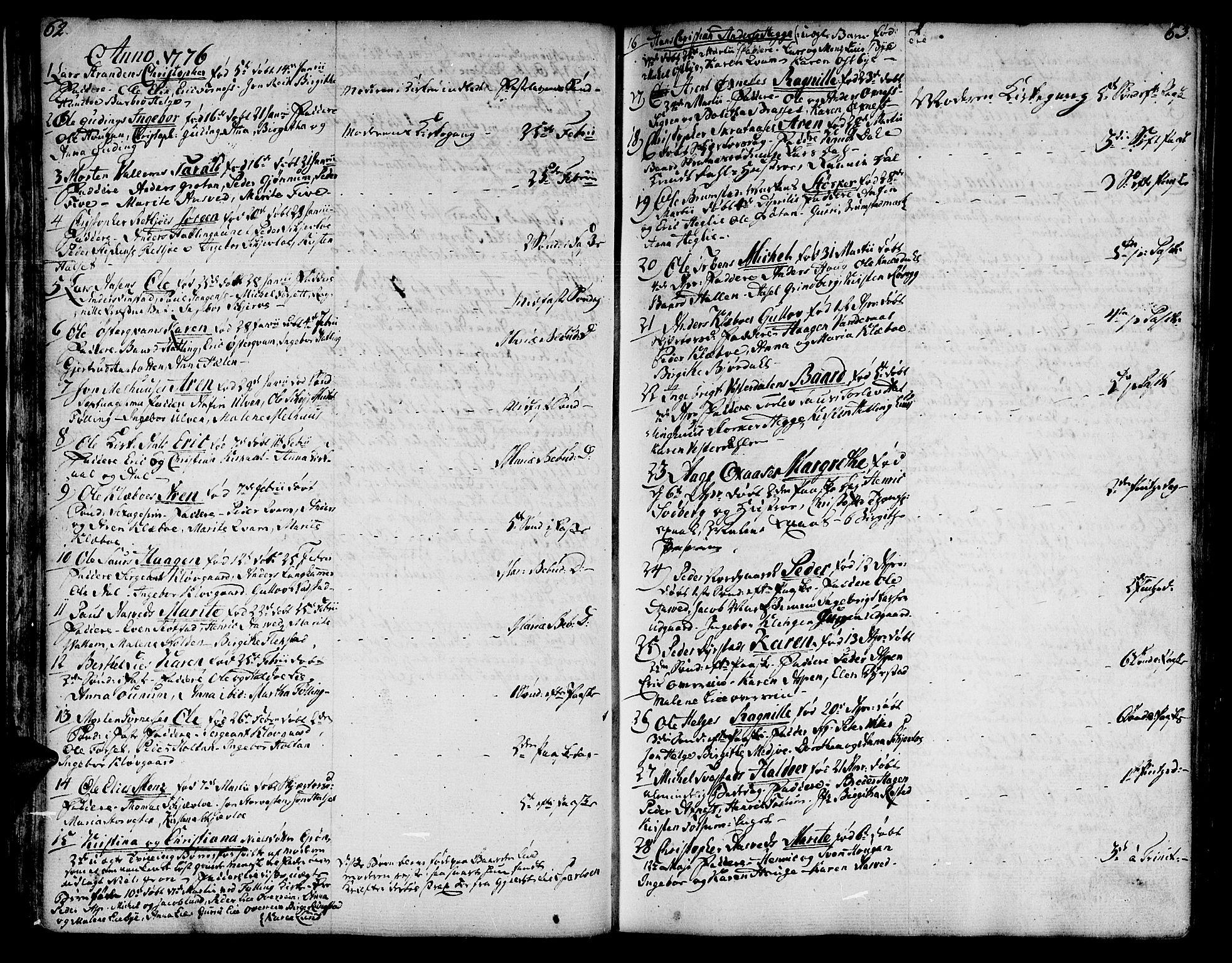 SAT, Ministerialprotokoller, klokkerbøker og fødselsregistre - Nord-Trøndelag, 746/L0440: Ministerialbok nr. 746A02, 1760-1815, s. 62-63