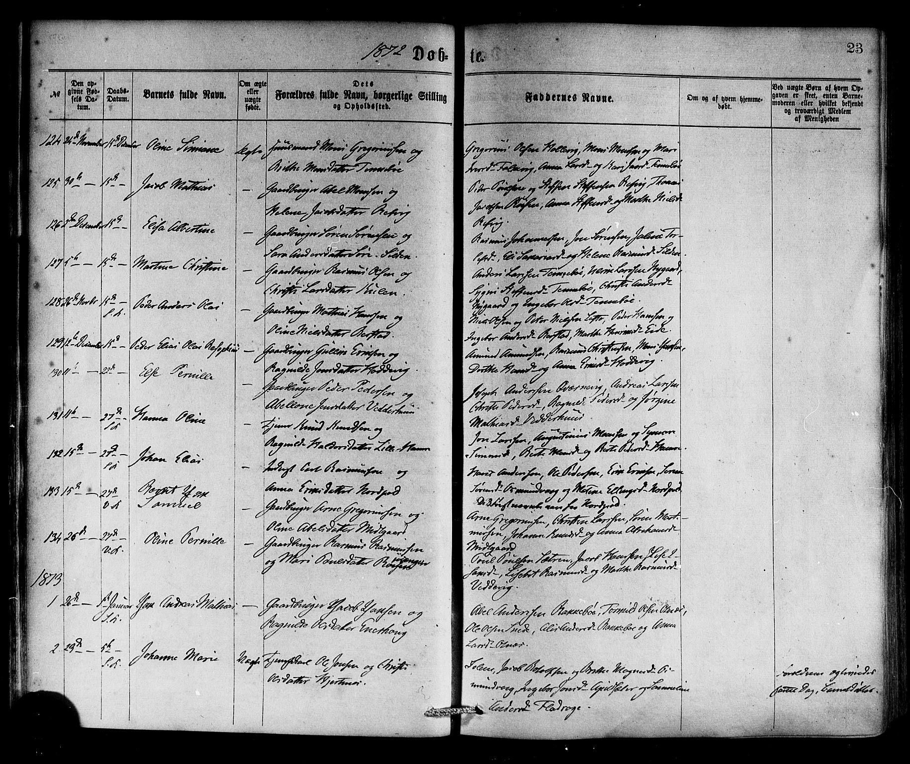 SAB, Selje sokneprestembete*, Ministerialbok nr. A 12, 1870-1880, s. 23
