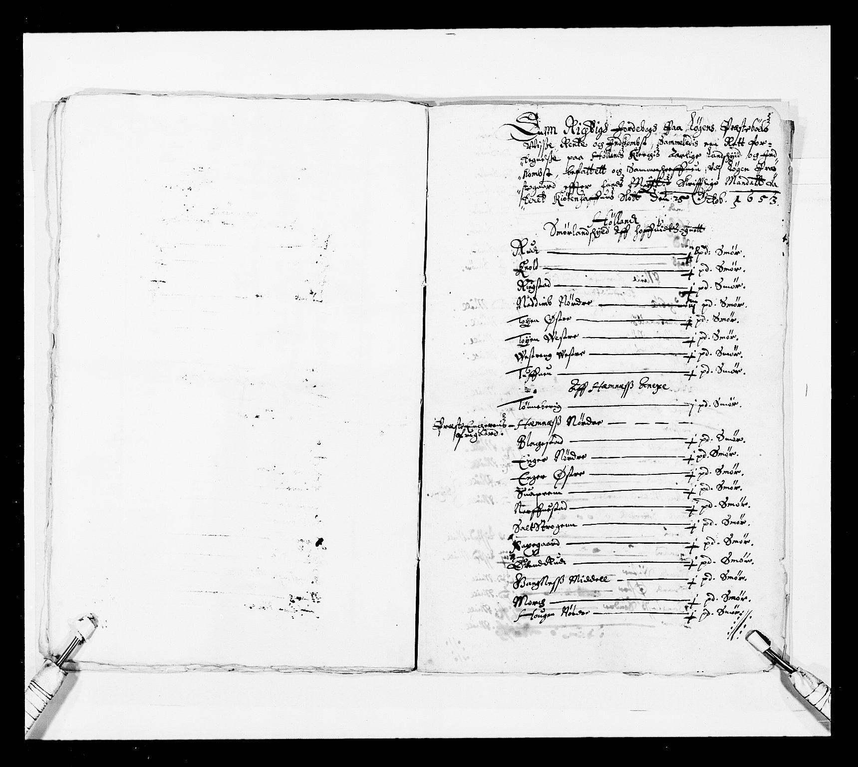 RA, Stattholderembetet 1572-1771, Ek/L0030: Jordebøker 1633-1658:, 1654, s. 210