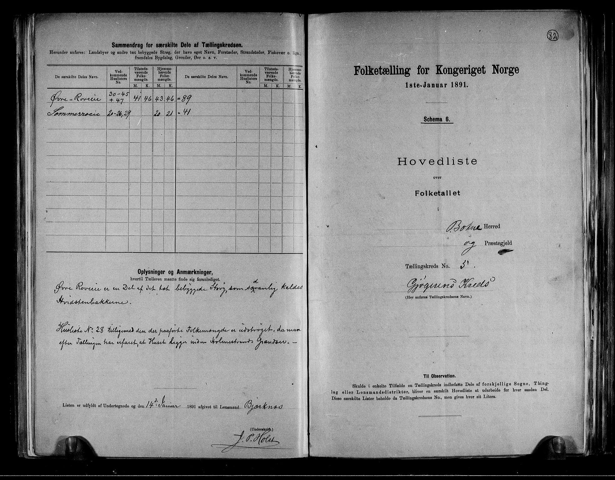 RA, Folketelling 1891 for 0715 Botne herred, 1891, s. 13