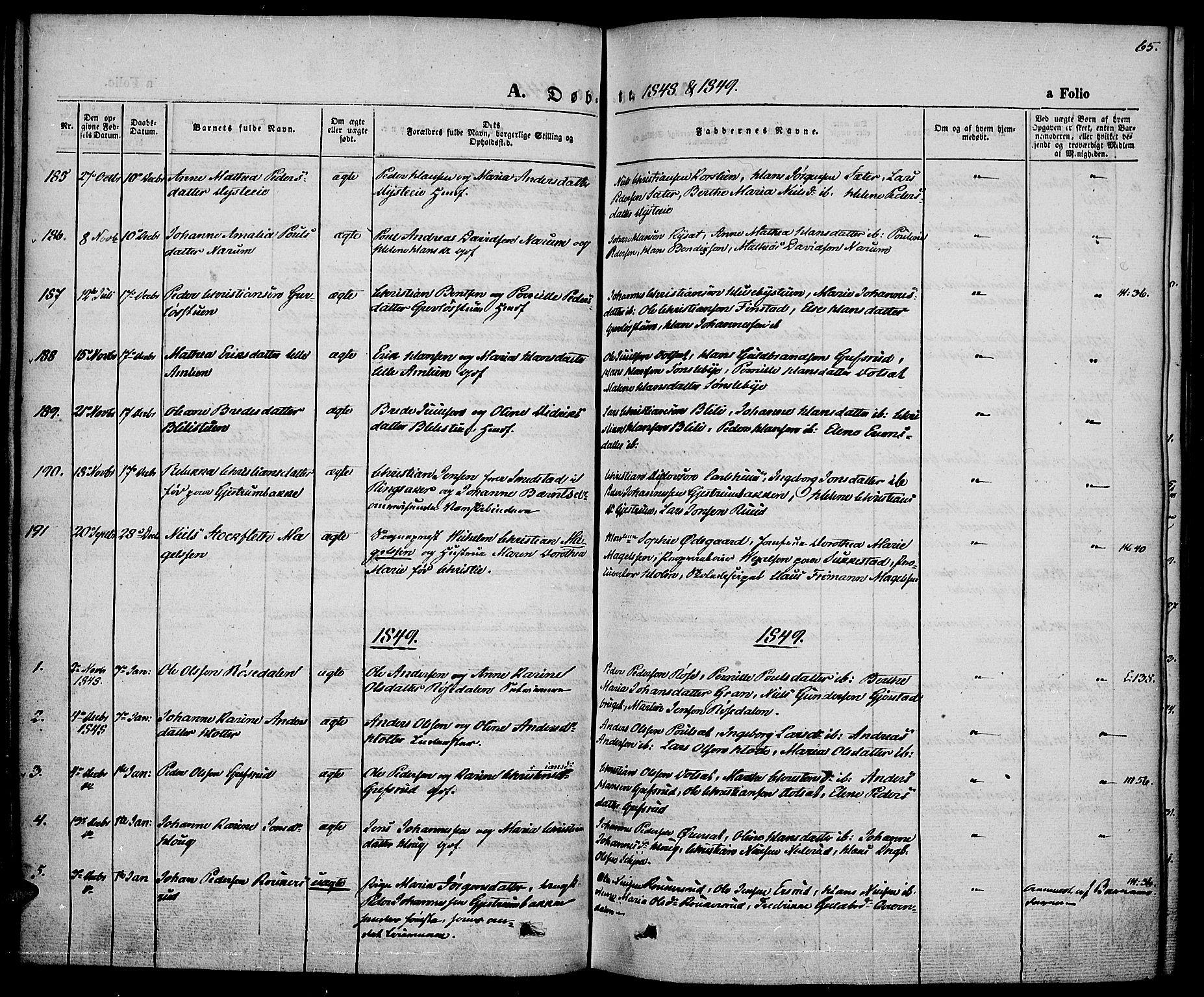 SAH, Vestre Toten prestekontor, H/Ha/Haa/L0004: Ministerialbok nr. 4, 1844-1849, s. 65