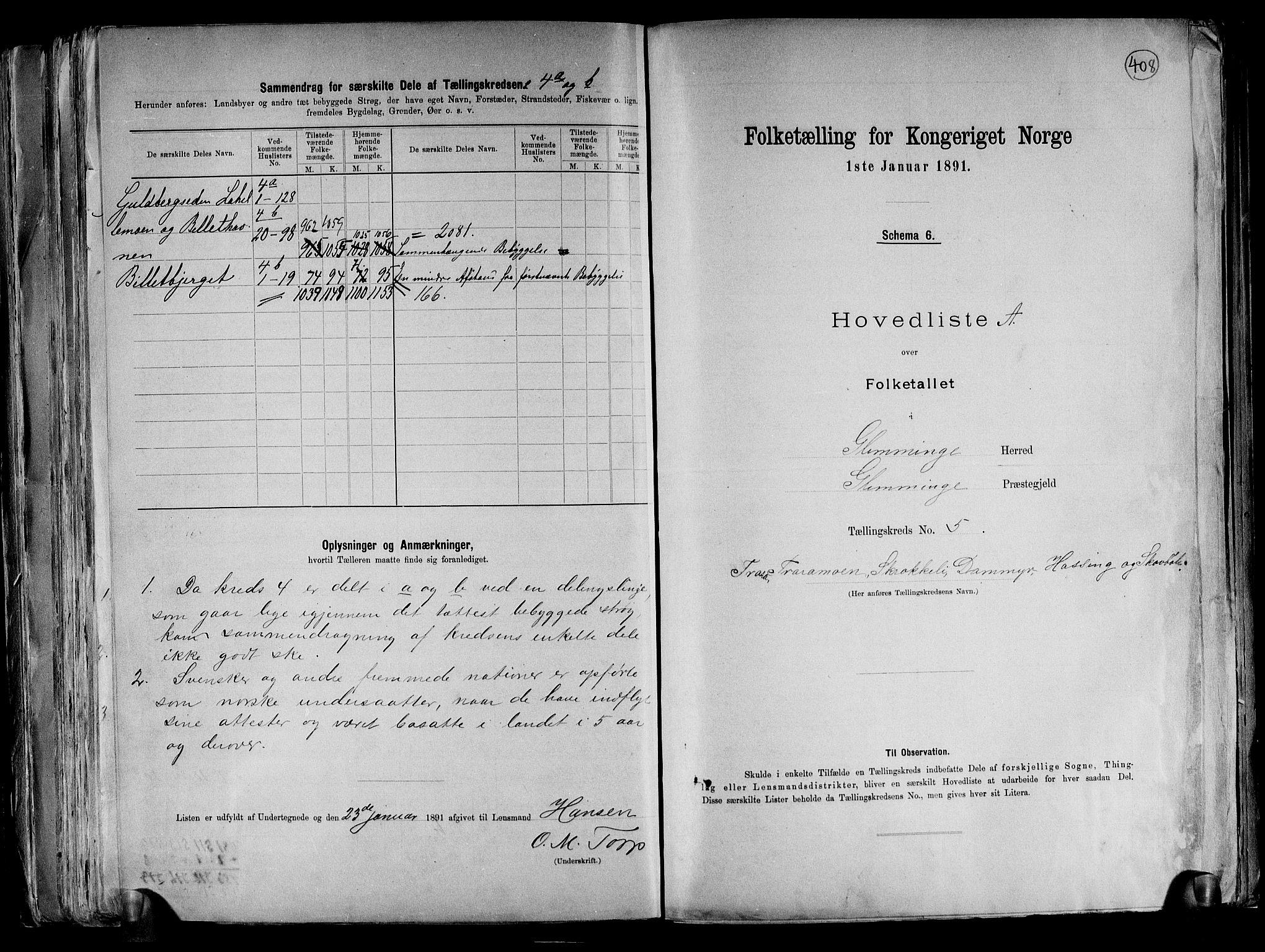RA, Folketelling 1891 for 0132 Glemmen herred, 1891, s. 20
