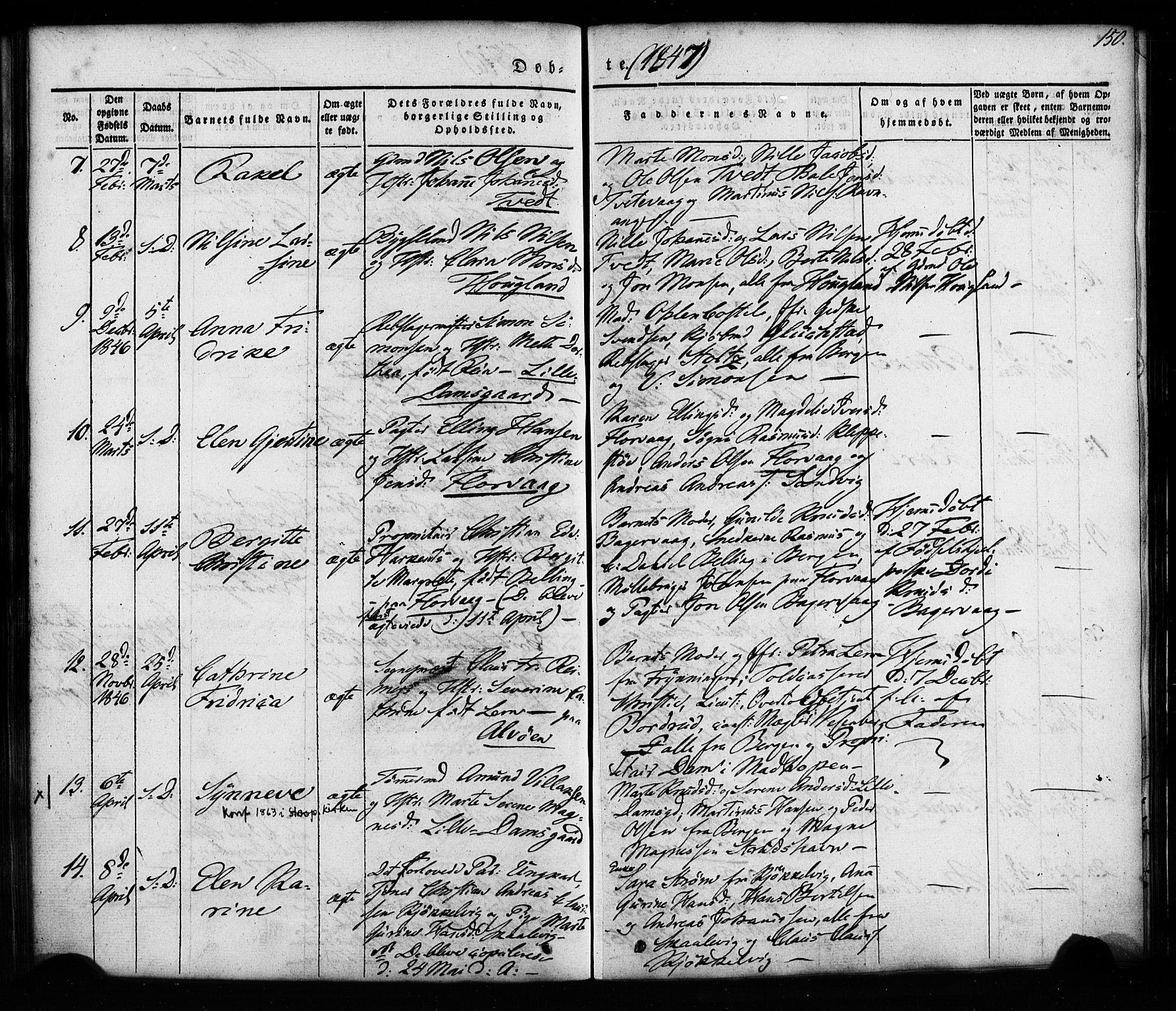 SAB, Askøy Sokneprestembete, H/Ha/Haa/Haaa/L0005: Ministerialbok nr. A 5, 1836-1852, s. 150