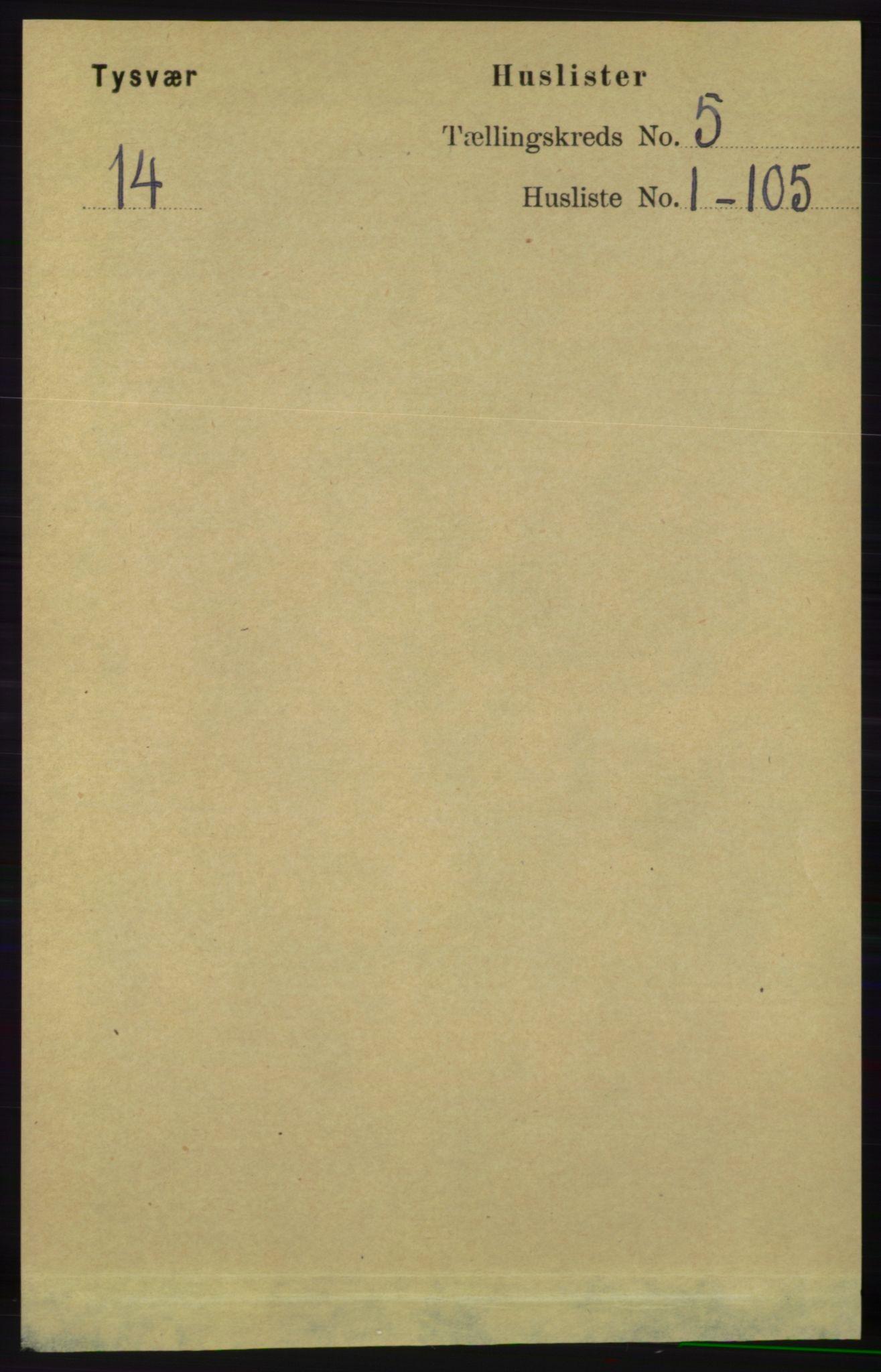 RA, Folketelling 1891 for 1146 Tysvær herred, 1891, s. 1786