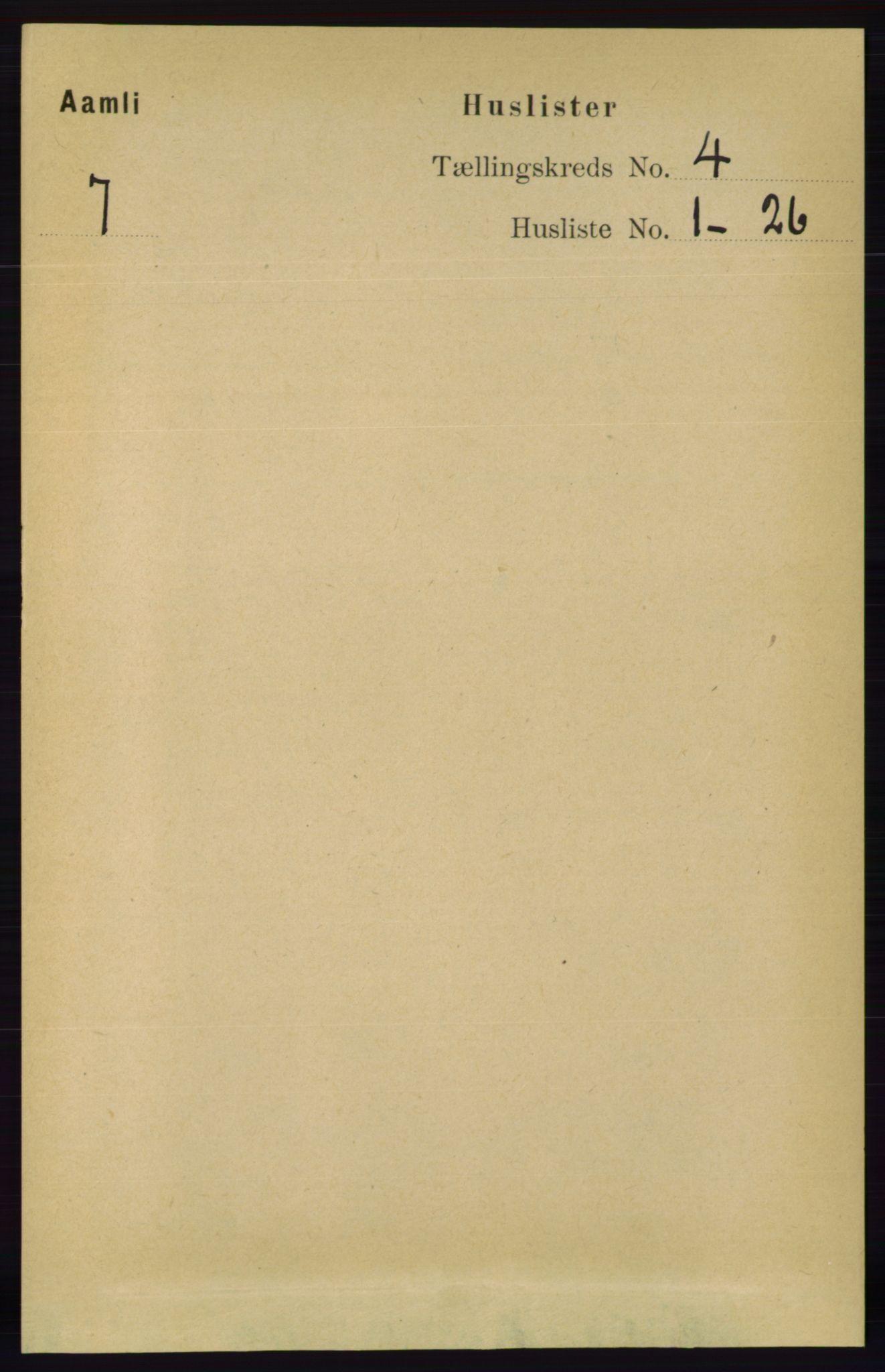 RA, Folketelling 1891 for 0929 Åmli herred, 1891, s. 410
