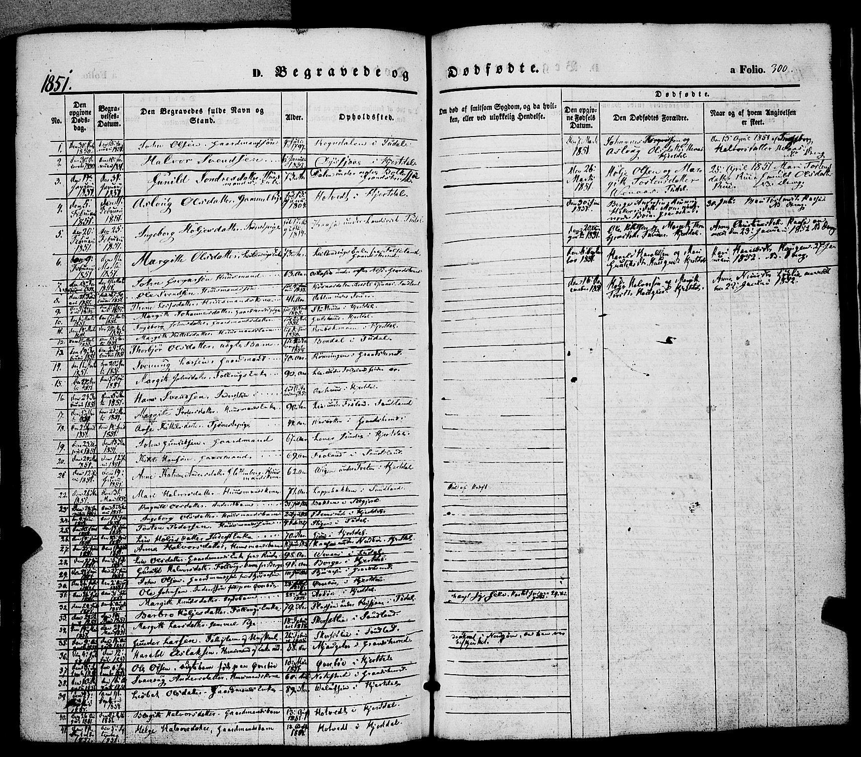 SAKO, Hjartdal kirkebøker, F/Fa/L0008: Ministerialbok nr. I 8, 1844-1859, s. 300