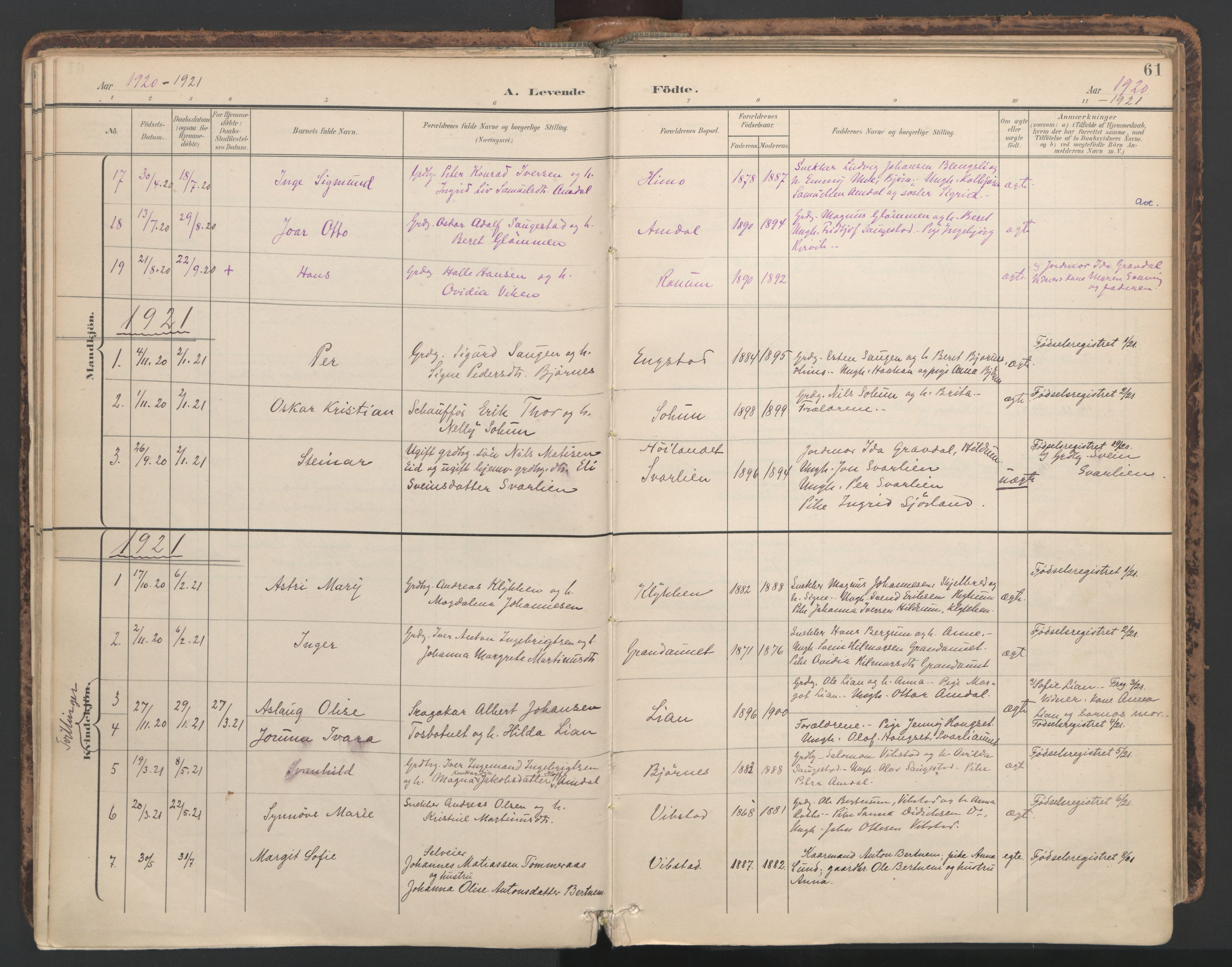 SAT, Ministerialprotokoller, klokkerbøker og fødselsregistre - Nord-Trøndelag, 764/L0556: Ministerialbok nr. 764A11, 1897-1924, s. 61