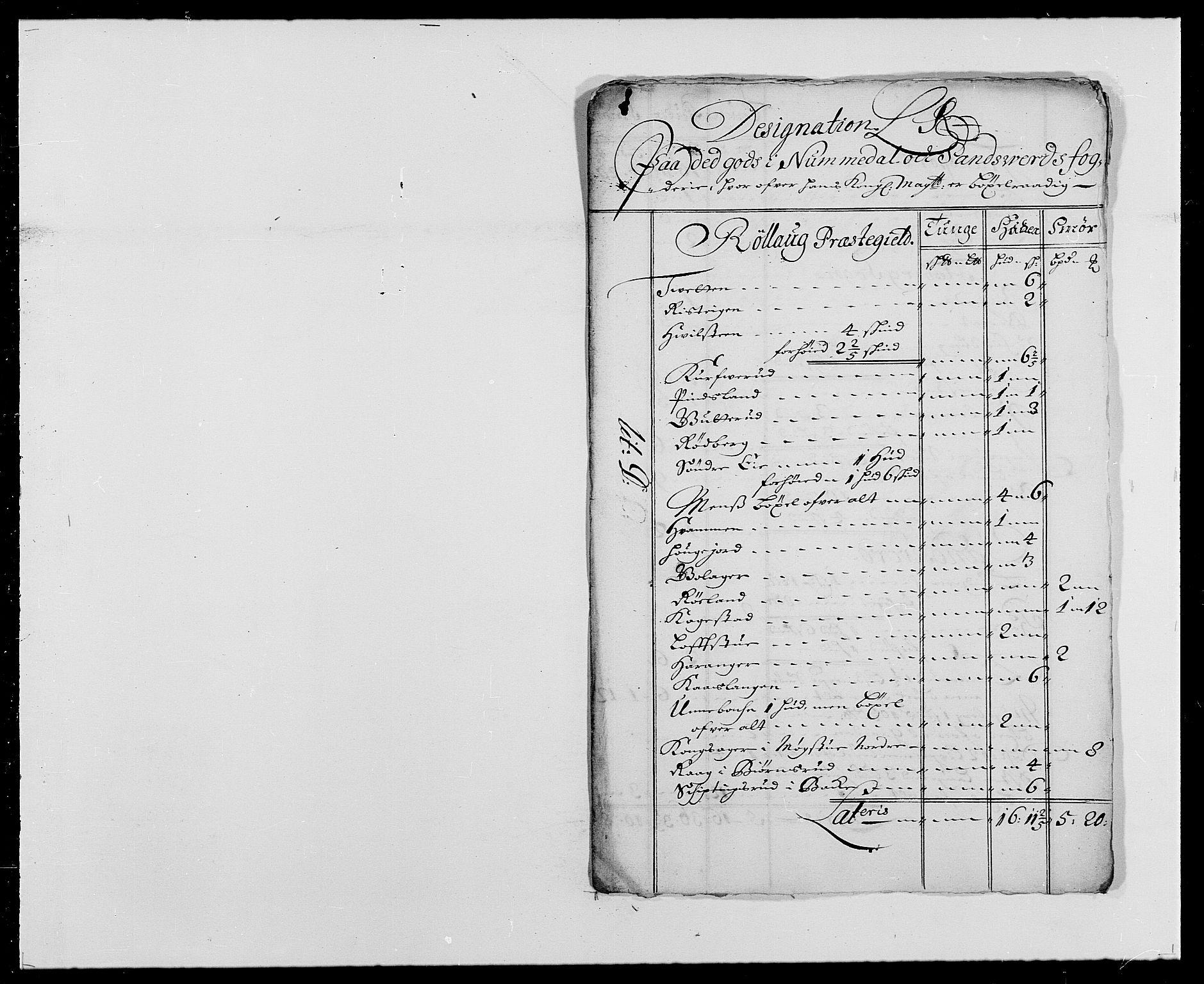 RA, Rentekammeret inntil 1814, Reviderte regnskaper, Fogderegnskap, R24/L1573: Fogderegnskap Numedal og Sandsvær, 1687-1691, s. 373