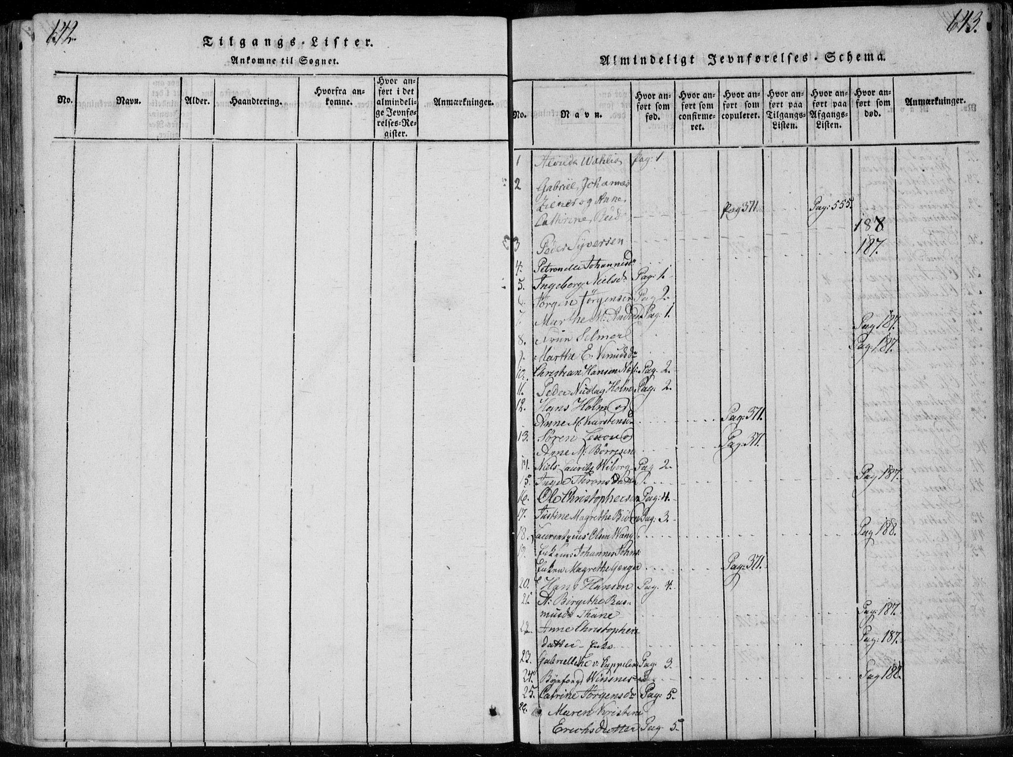 SAKO, Bragernes kirkebøker, F/Fa/L0007: Ministerialbok nr. I 7, 1815-1829, s. 642-643
