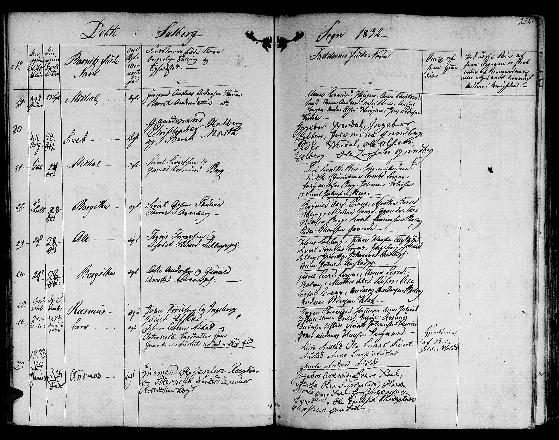 SAT, Ministerialprotokoller, klokkerbøker og fødselsregistre - Nord-Trøndelag, 730/L0277: Ministerialbok nr. 730A06 /2, 1831-1839, s. 252