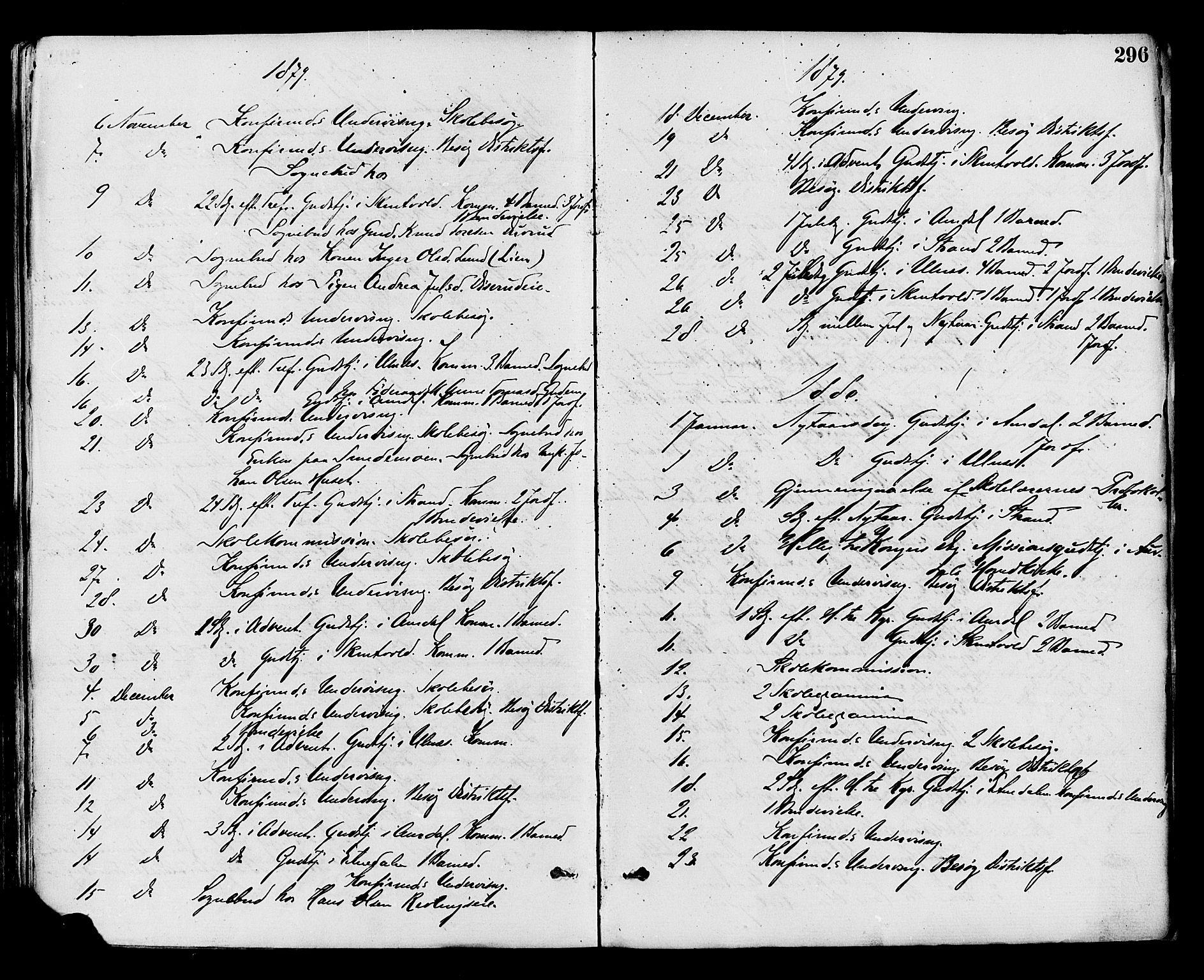 SAH, Nord-Aurdal prestekontor, Ministerialbok nr. 9, 1876-1882, s. 296