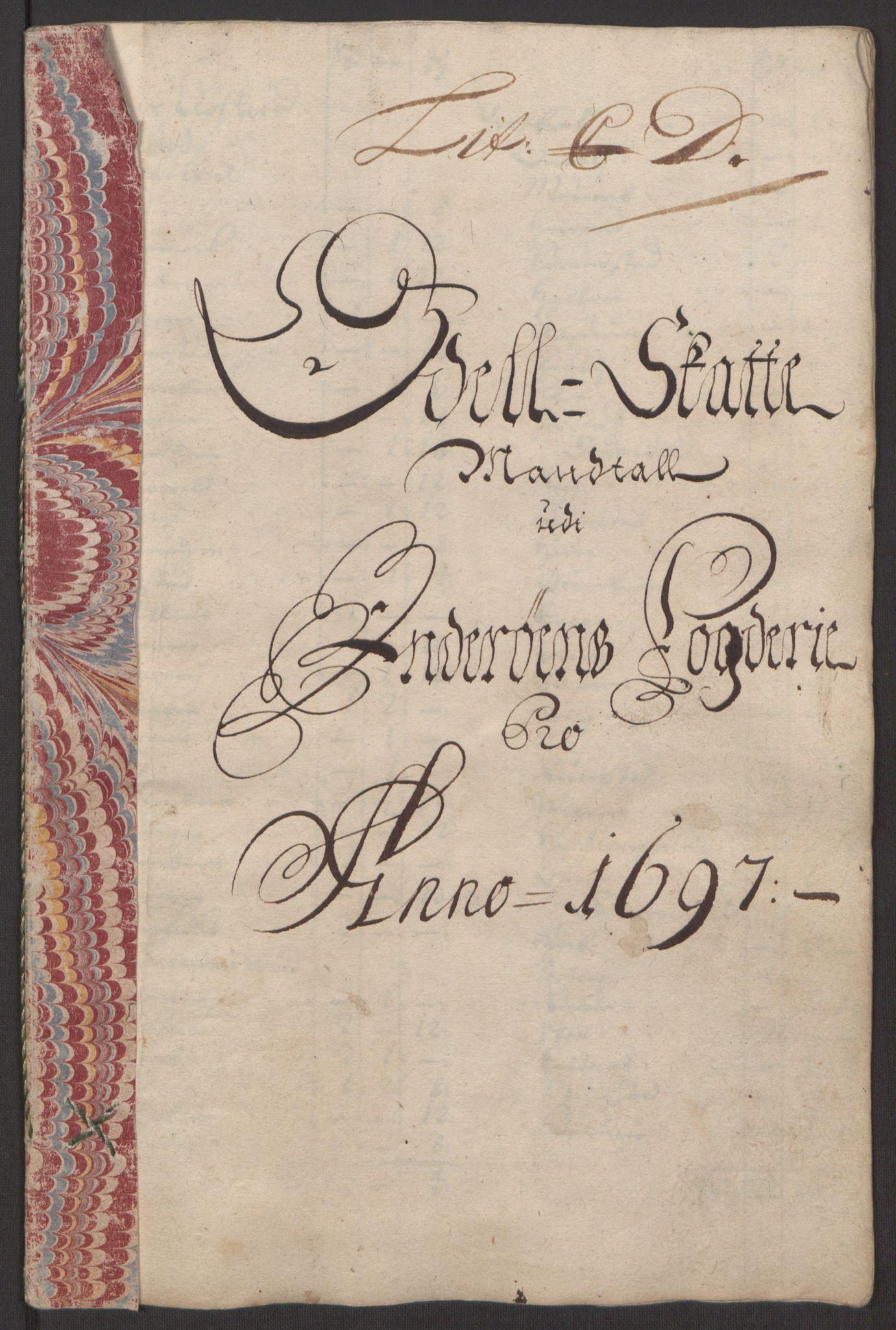 RA, Rentekammeret inntil 1814, Reviderte regnskaper, Fogderegnskap, R63/L4309: Fogderegnskap Inderøy, 1695-1697, s. 407