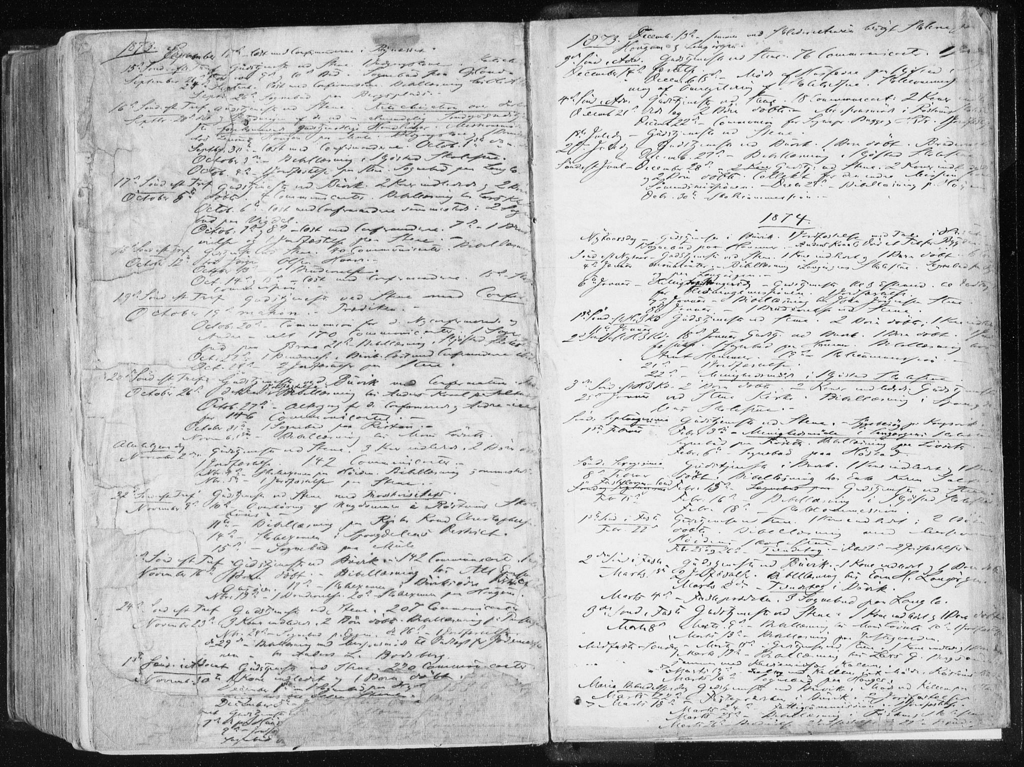 SAT, Ministerialprotokoller, klokkerbøker og fødselsregistre - Sør-Trøndelag, 612/L0377: Ministerialbok nr. 612A09, 1859-1877, s. 580
