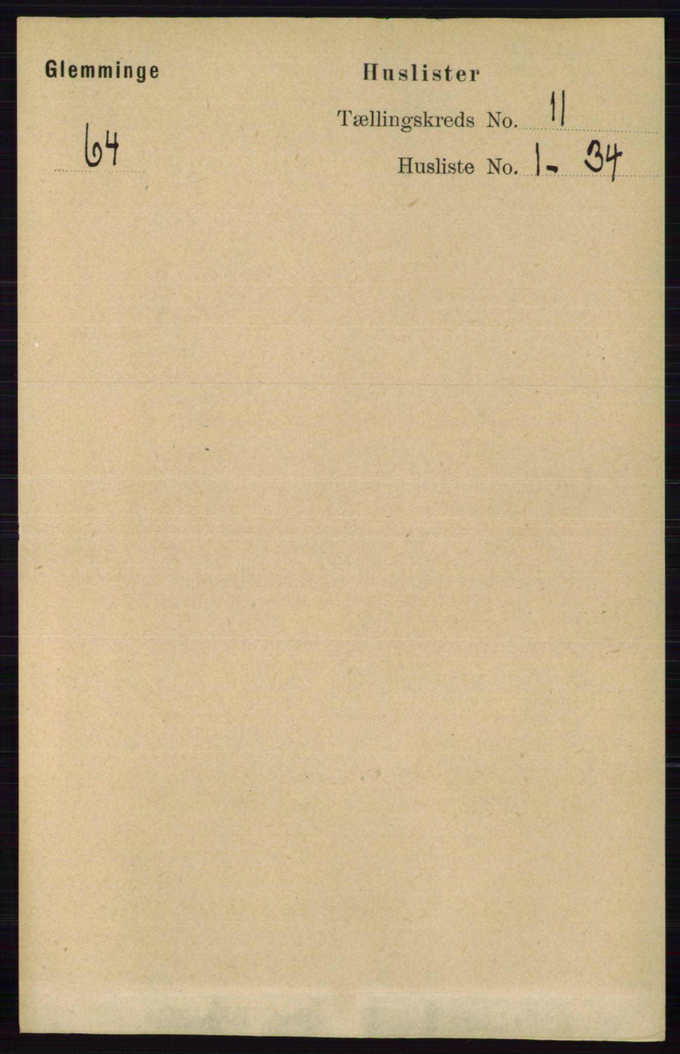 RA, Folketelling 1891 for 0132 Glemmen herred, 1891, s. 10531