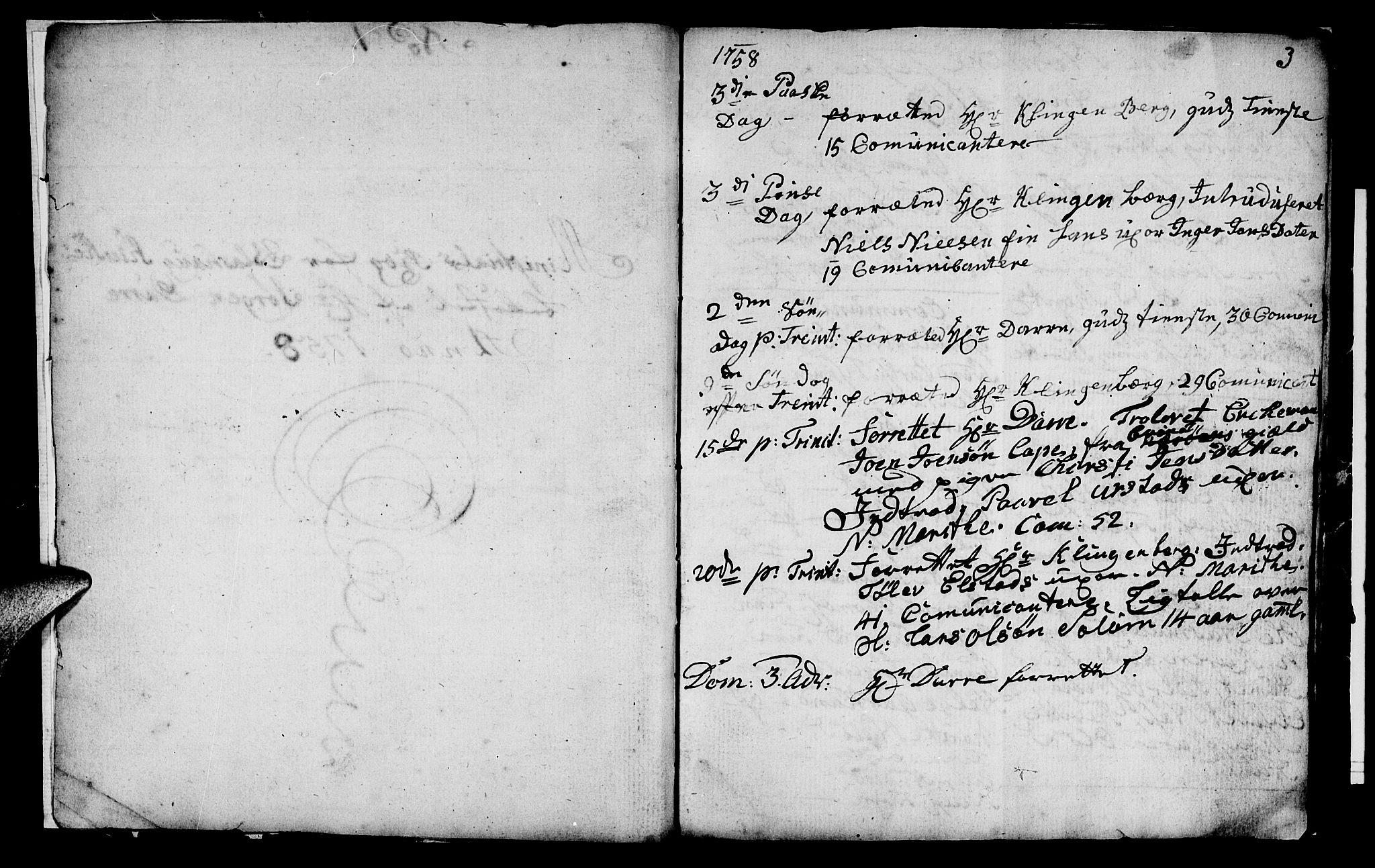 SAT, Ministerialprotokoller, klokkerbøker og fødselsregistre - Nord-Trøndelag, 759/L0526: Ministerialbok nr. 759A02, 1758-1765, s. 3