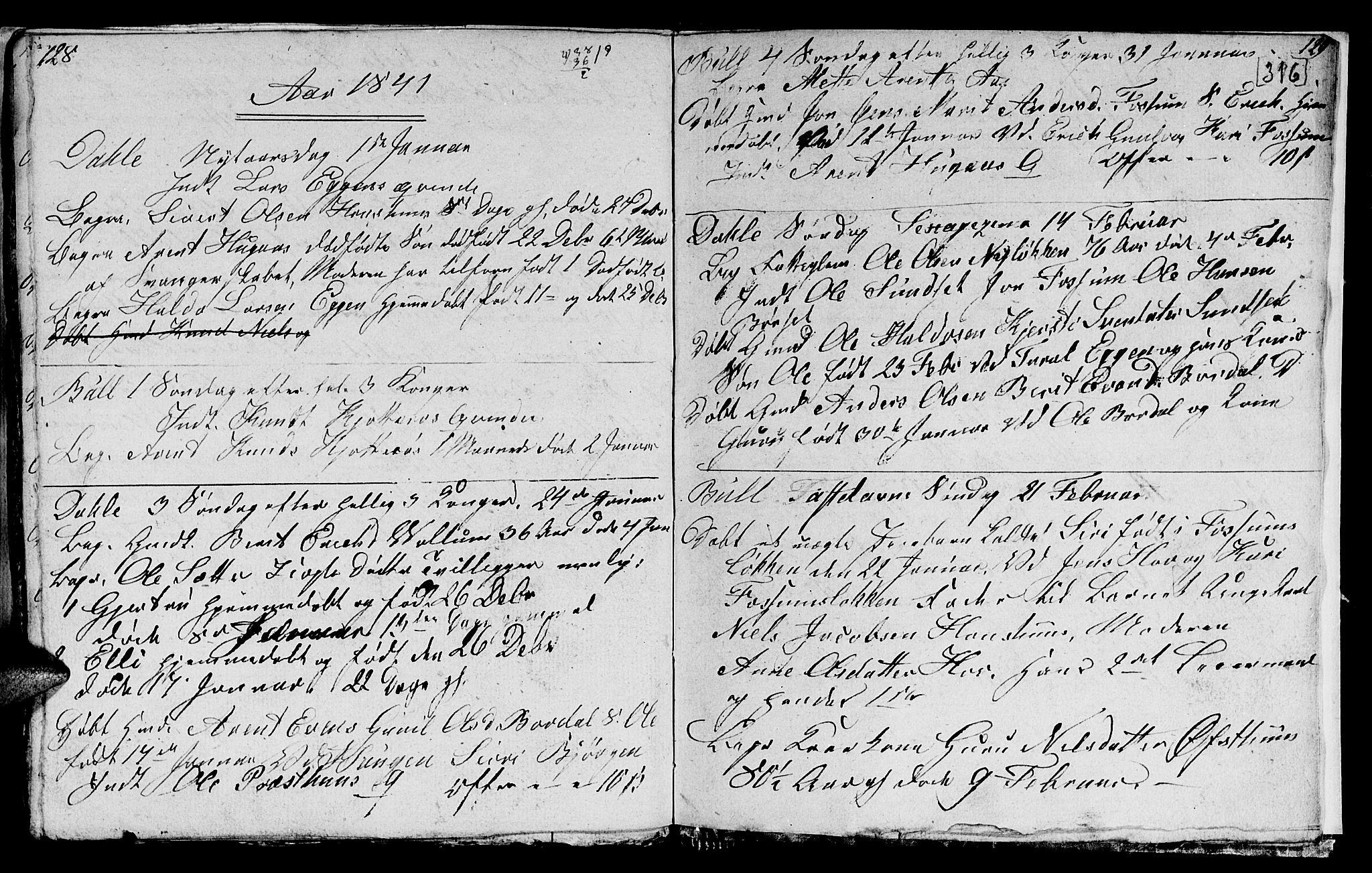 SAT, Ministerialprotokoller, klokkerbøker og fødselsregistre - Sør-Trøndelag, 689/L1042: Klokkerbok nr. 689C01, 1812-1841, s. 315-316