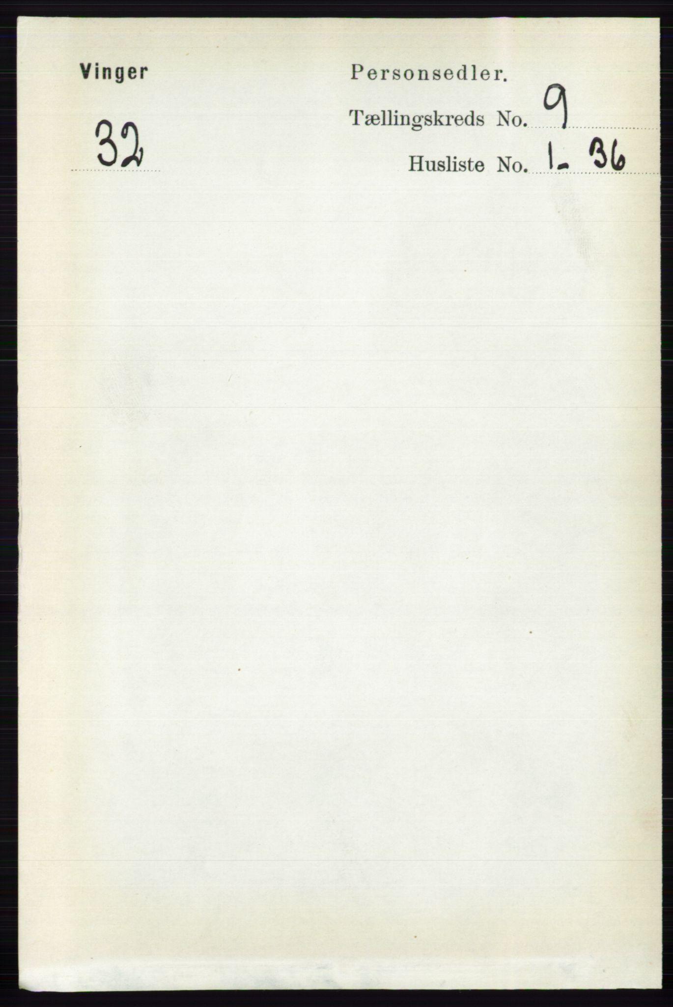 RA, Folketelling 1891 for 0421 Vinger herred, 1891, s. 4362