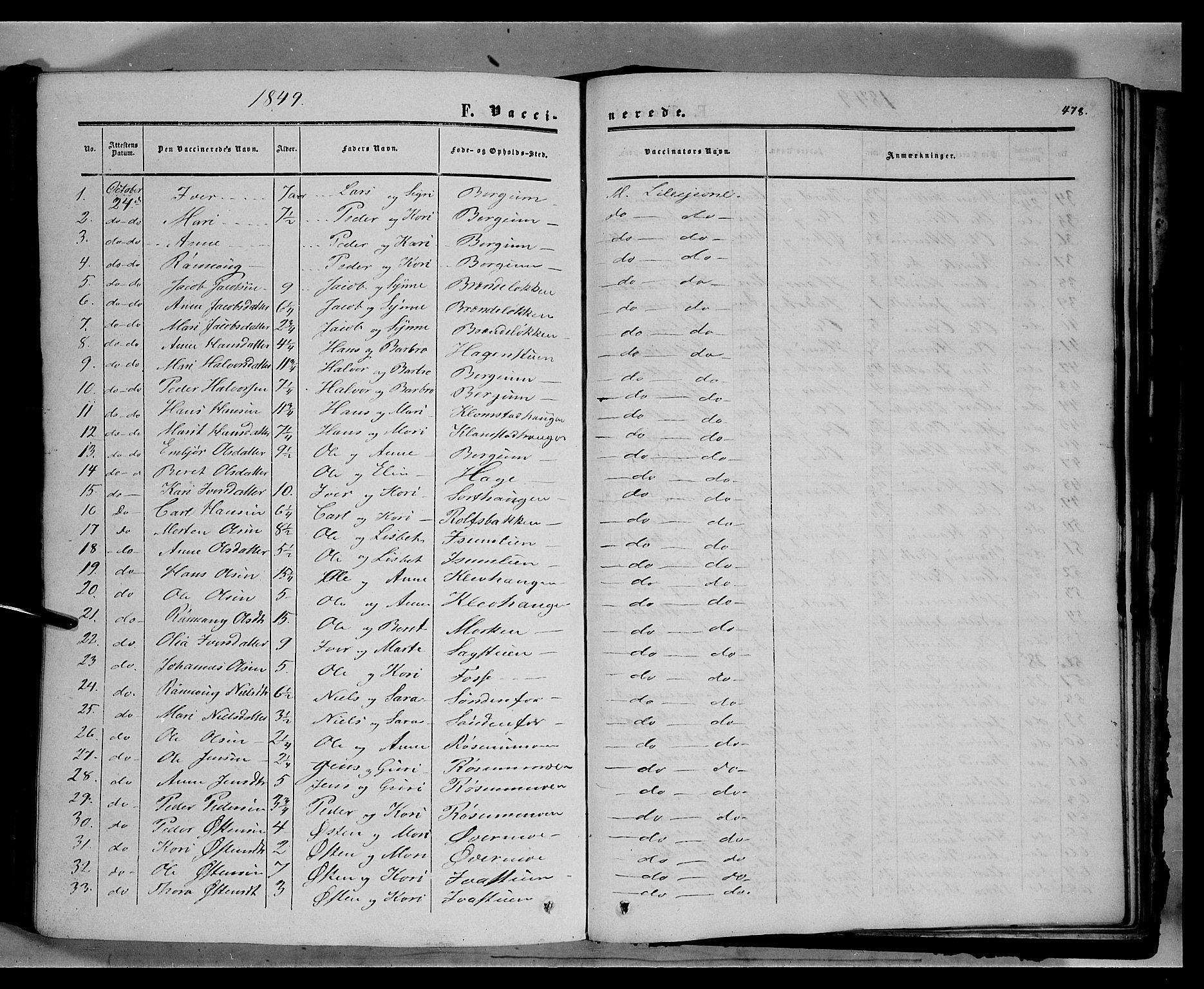 SAH, Sør-Fron prestekontor, H/Ha/Haa/L0001: Ministerialbok nr. 1, 1849-1863, s. 478
