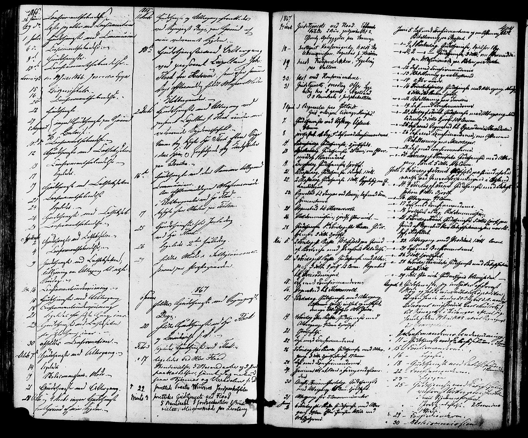 SAKO, Eidanger kirkebøker, F/Fa/L0010: Ministerialbok nr. 10, 1859-1874, s. 404