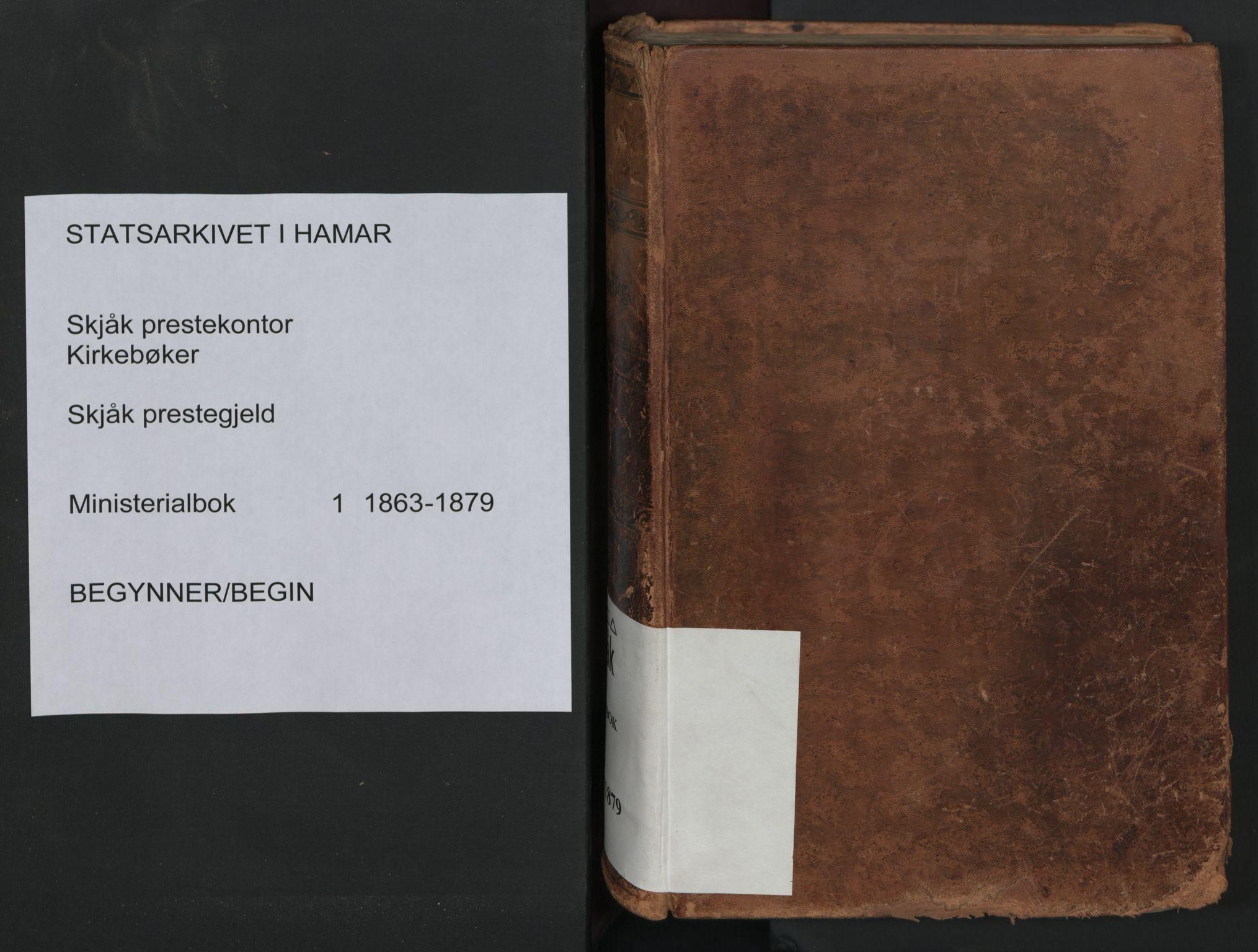 SAH, Skjåk prestekontor, Ministerialbok nr. 1, 1863-1879