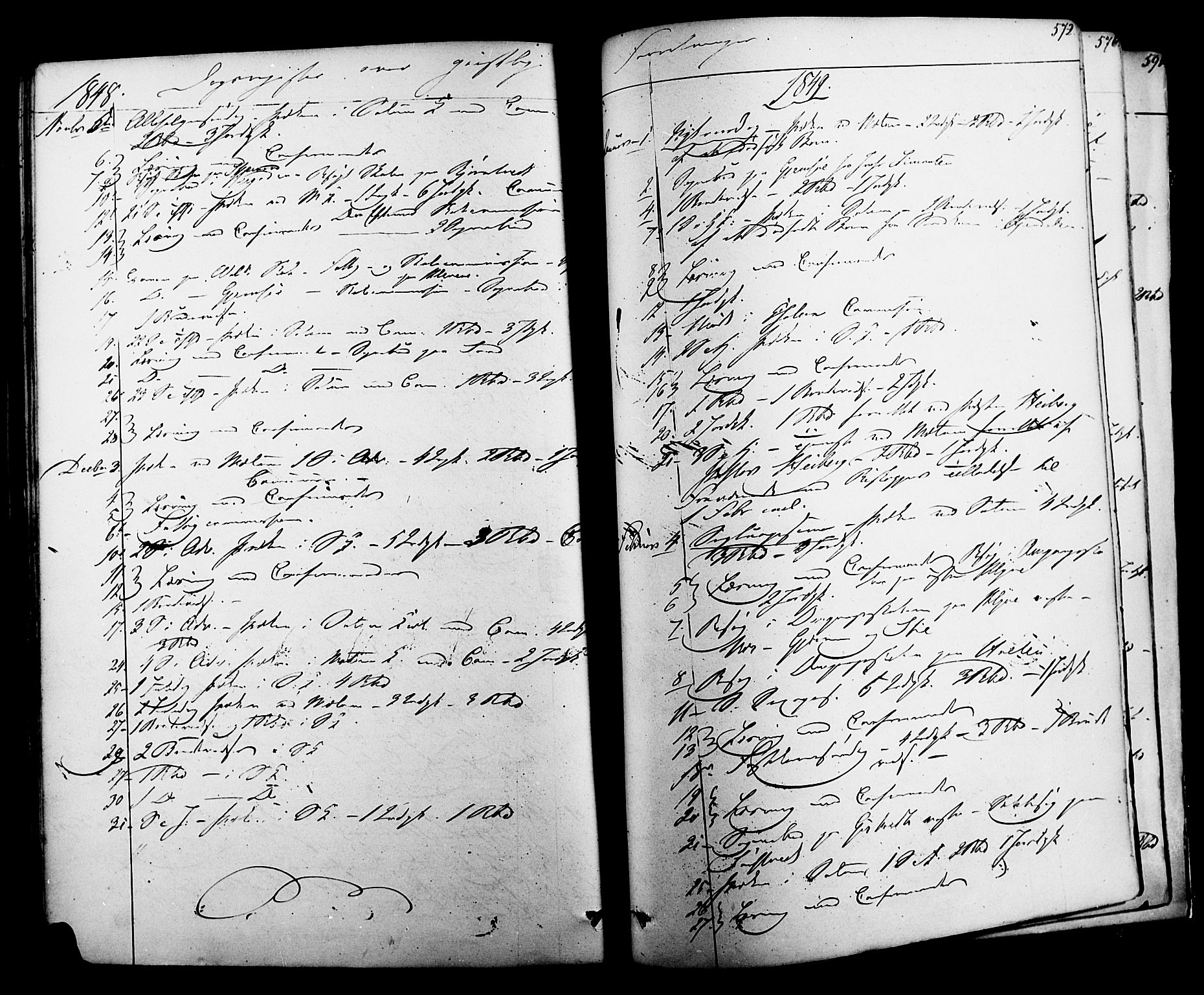 SAKO, Solum kirkebøker, F/Fa/L0006: Ministerialbok nr. I 6, 1844-1855, s. 572